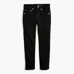 Boys' black wash runaround jean in skinny fit