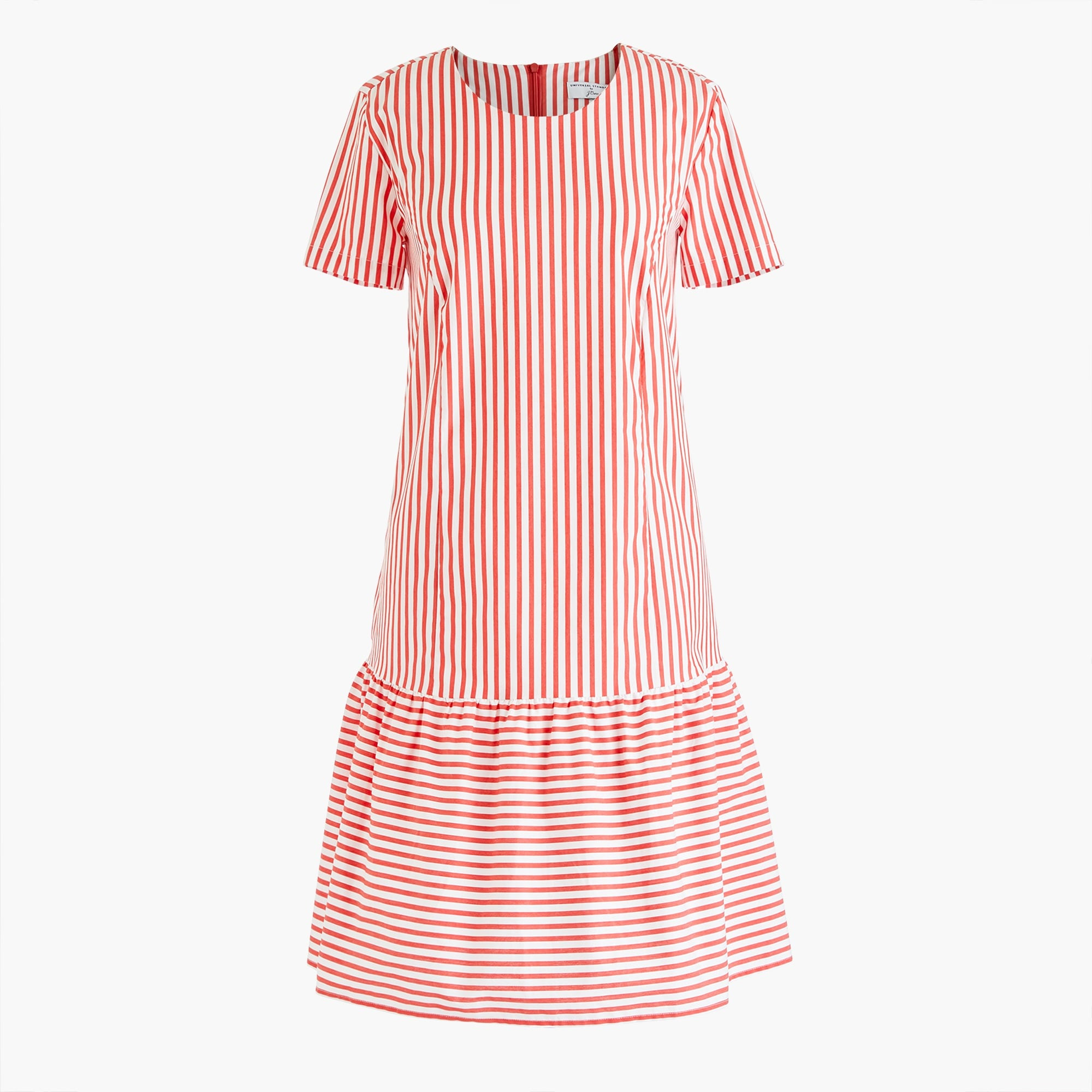 Image 6 for Universal Standard for J.Crew poplin drop-waist dress in stripe