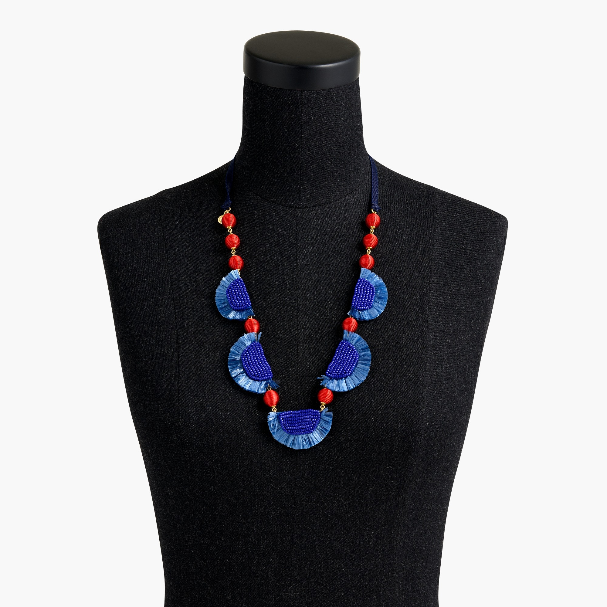 Image 2 for Bead-and-raffia necklace