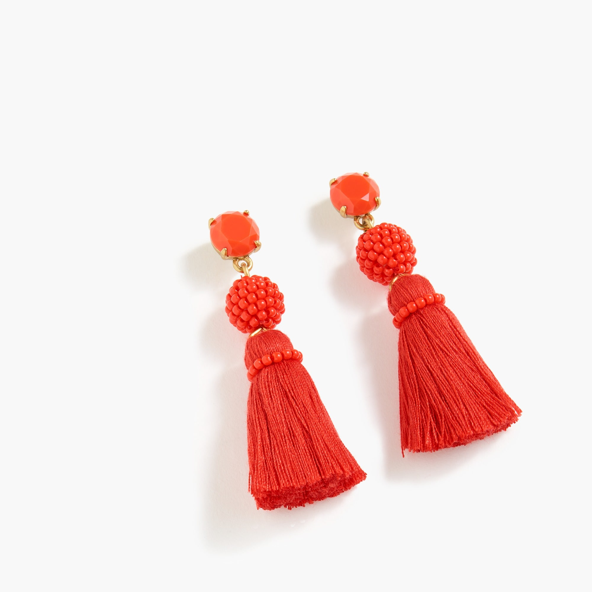 Bead and tassel earrings women new arrivals c