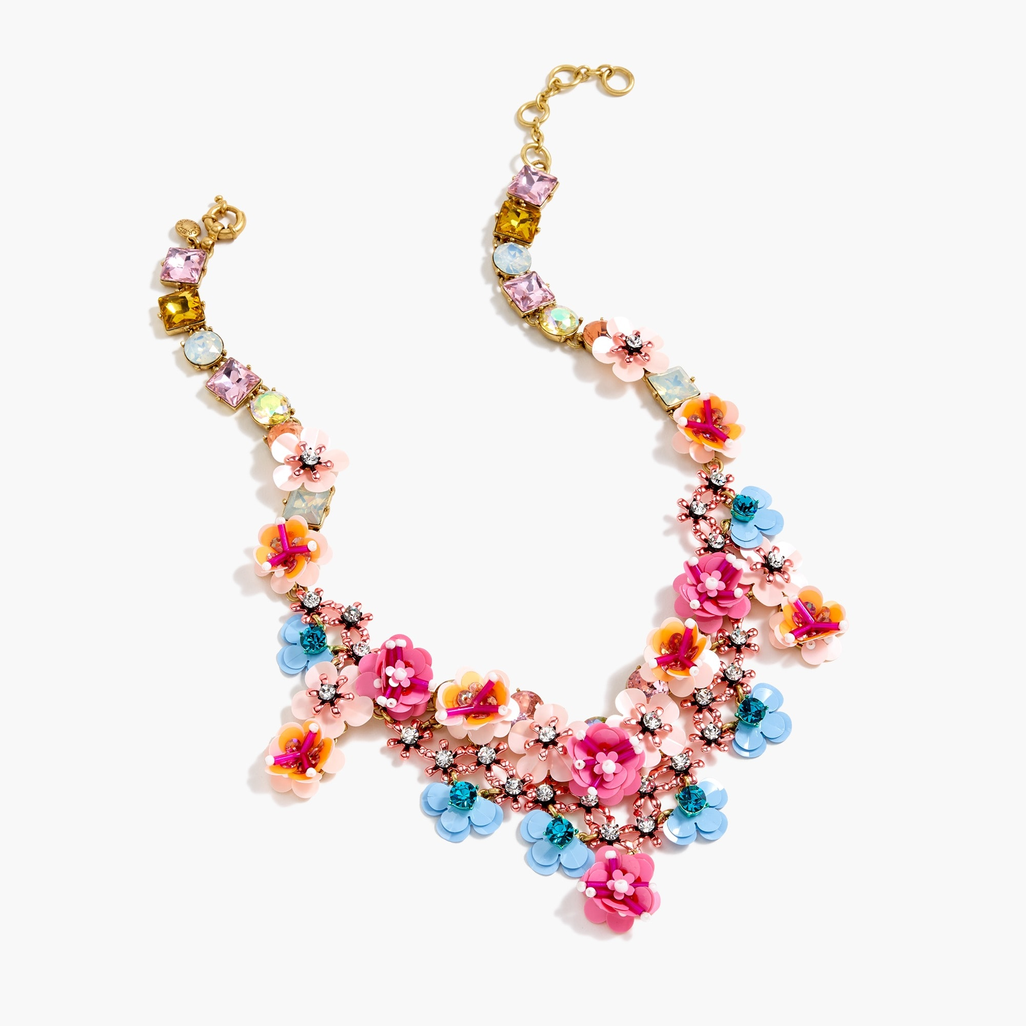 women's flower garden statement necklace - women's jewelry
