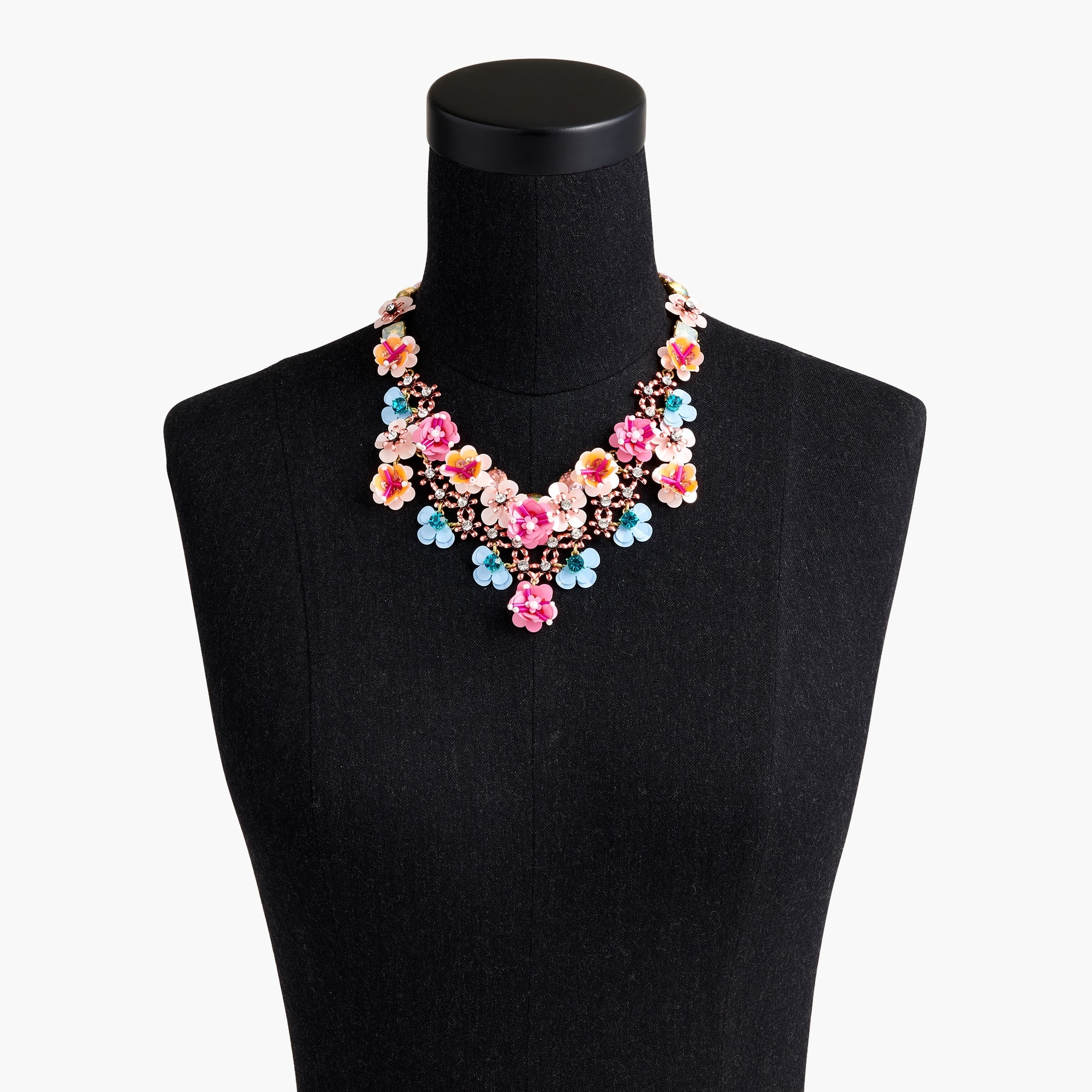 Image 2 for Flower garden statement necklace