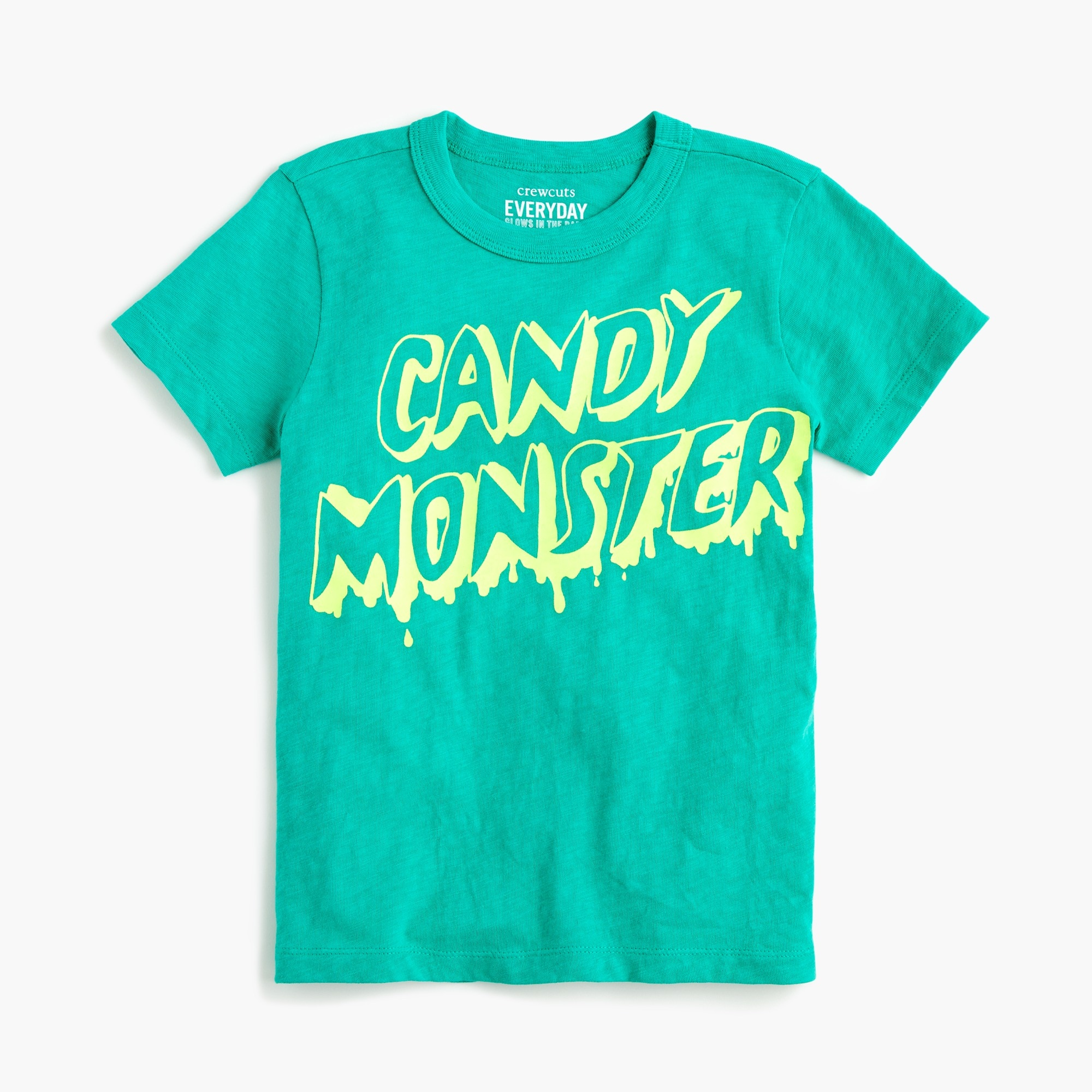 "Boys' glow-in-the-dark ""candy monster"" T-shirt"