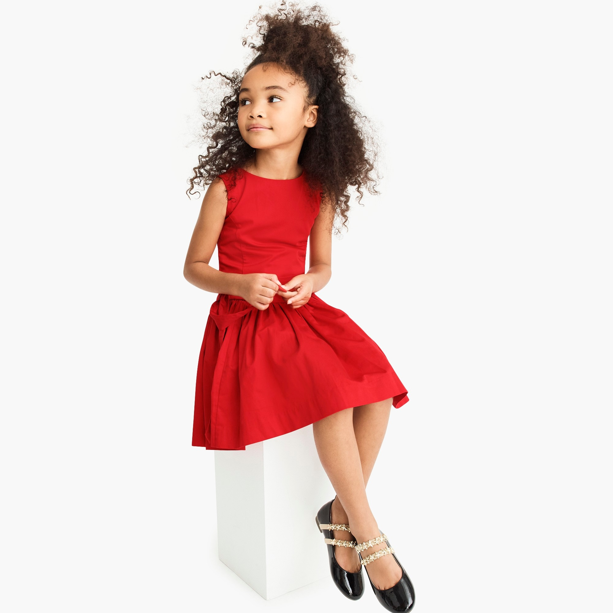 girls Girls' tie-waist dress