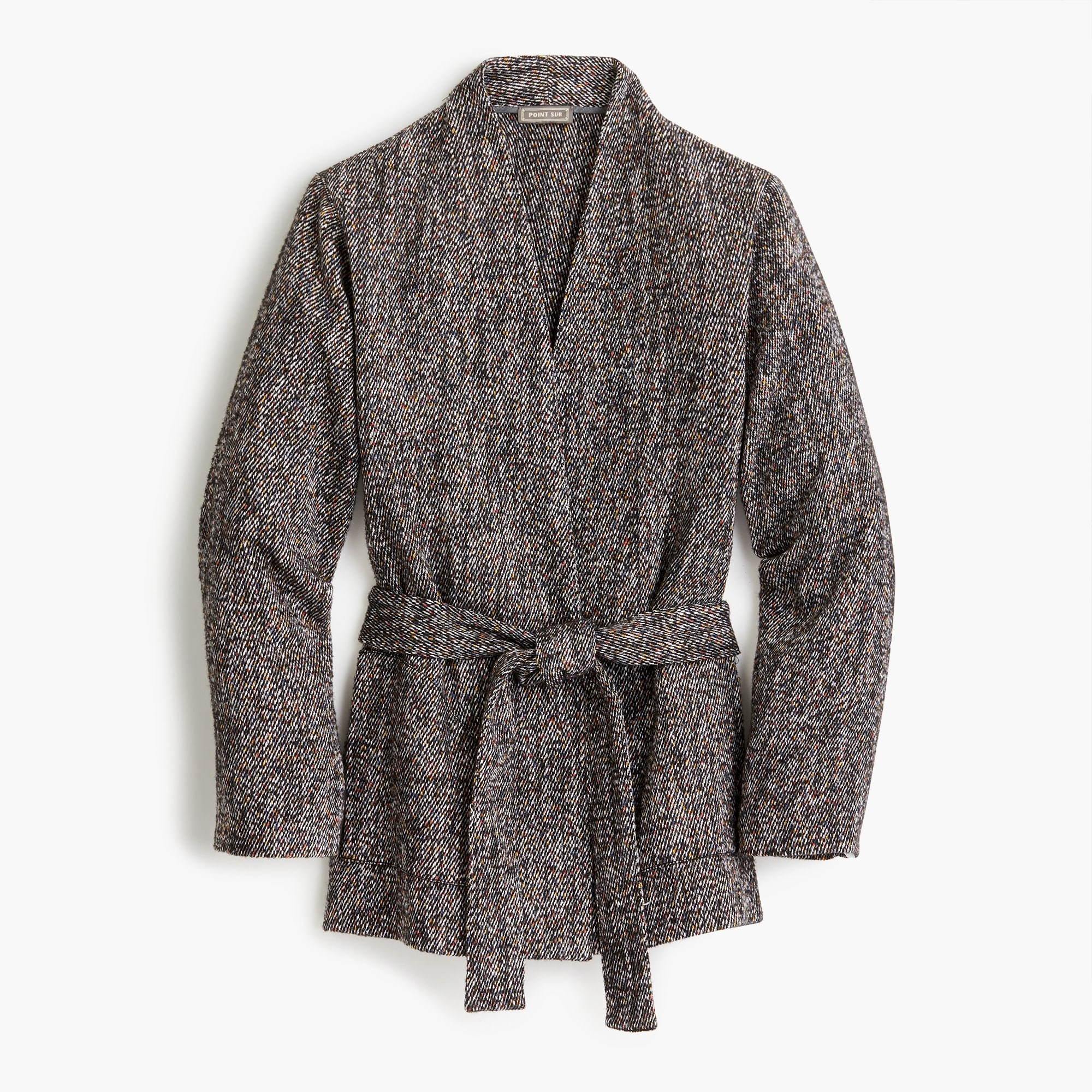Image 2 for Point Sur wrap jacket in Donegal tweed