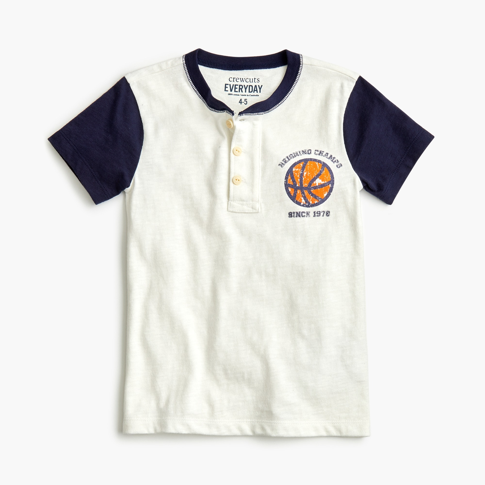 "boys Boys' ""reigning champs"" colorblocked henley"