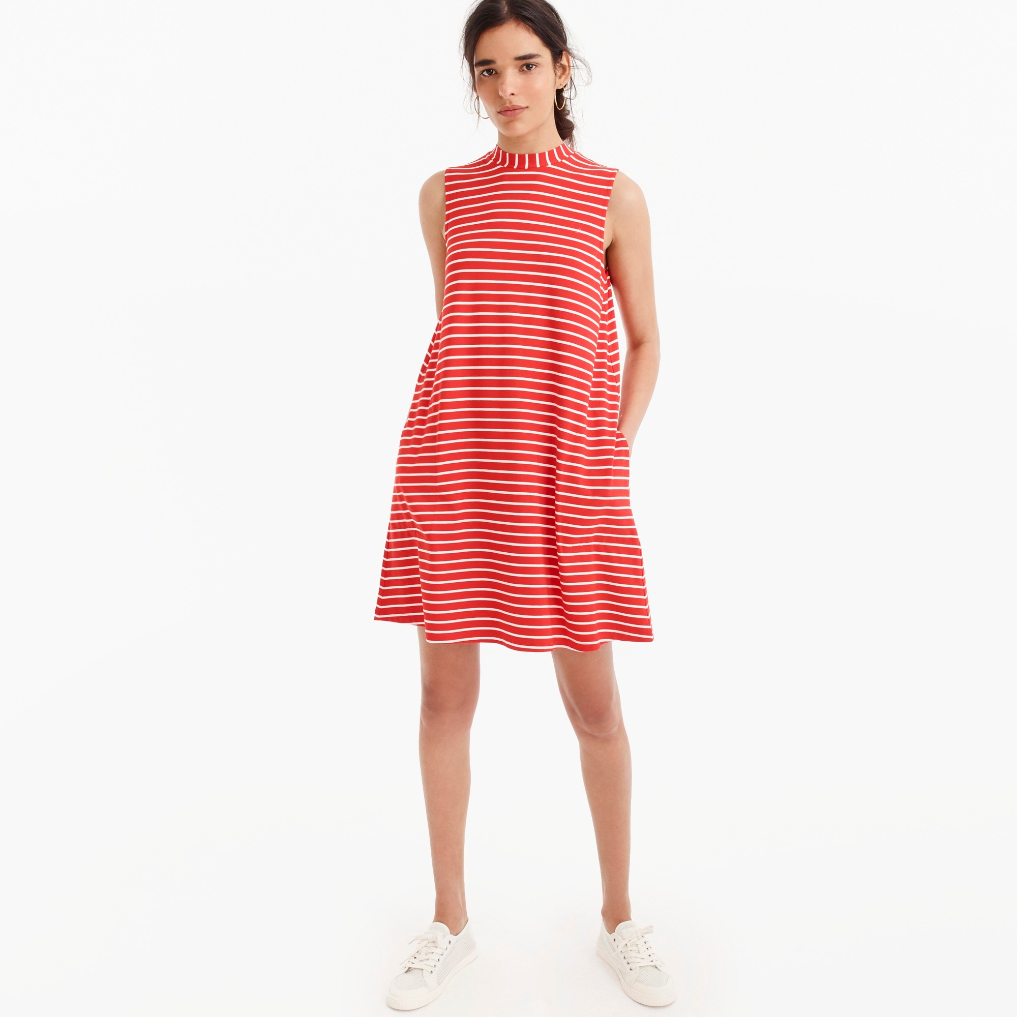 Swingy sleeveless dress in stripe women dresses c