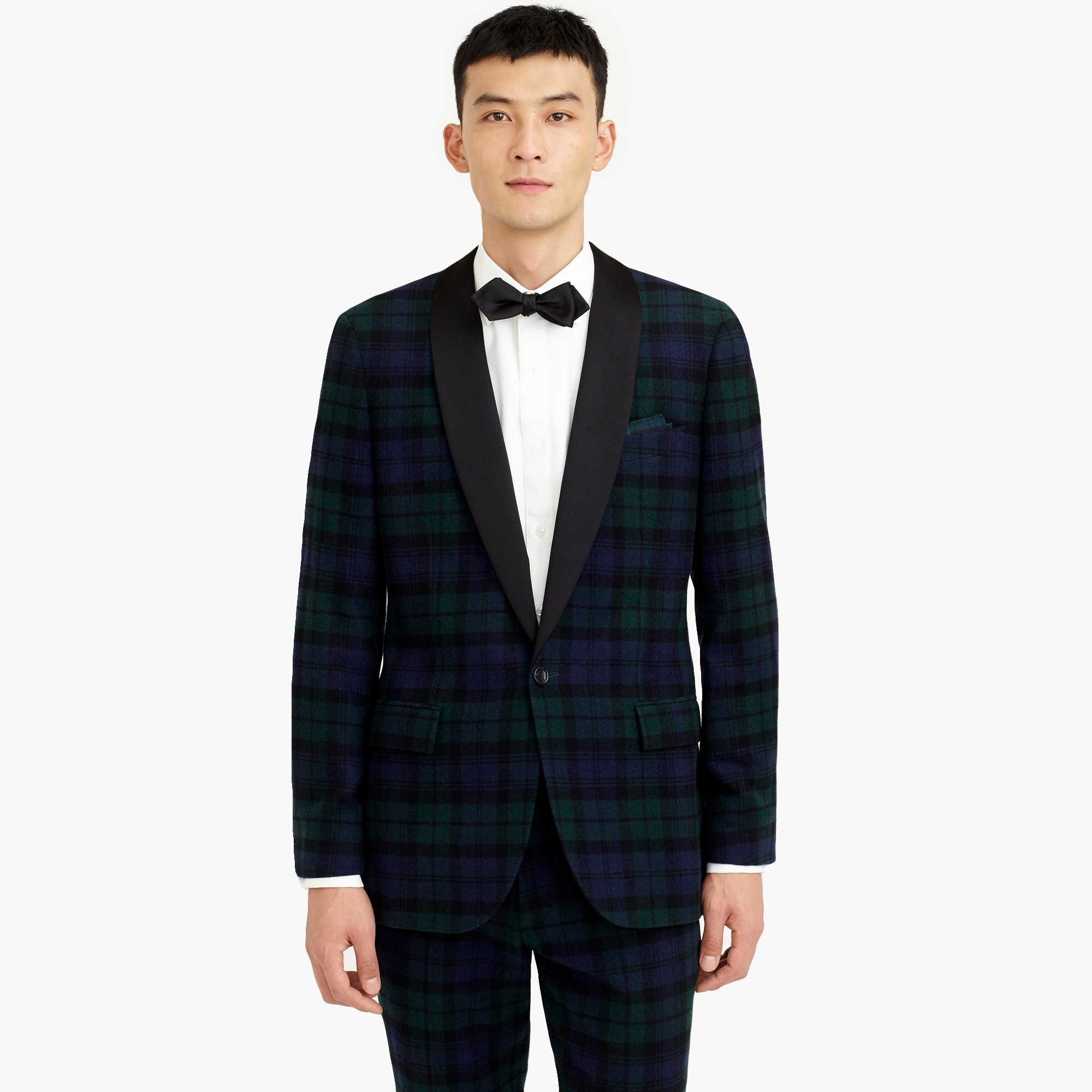 mens Ludlow slim-fit dinner jacket in Black Watch tartan