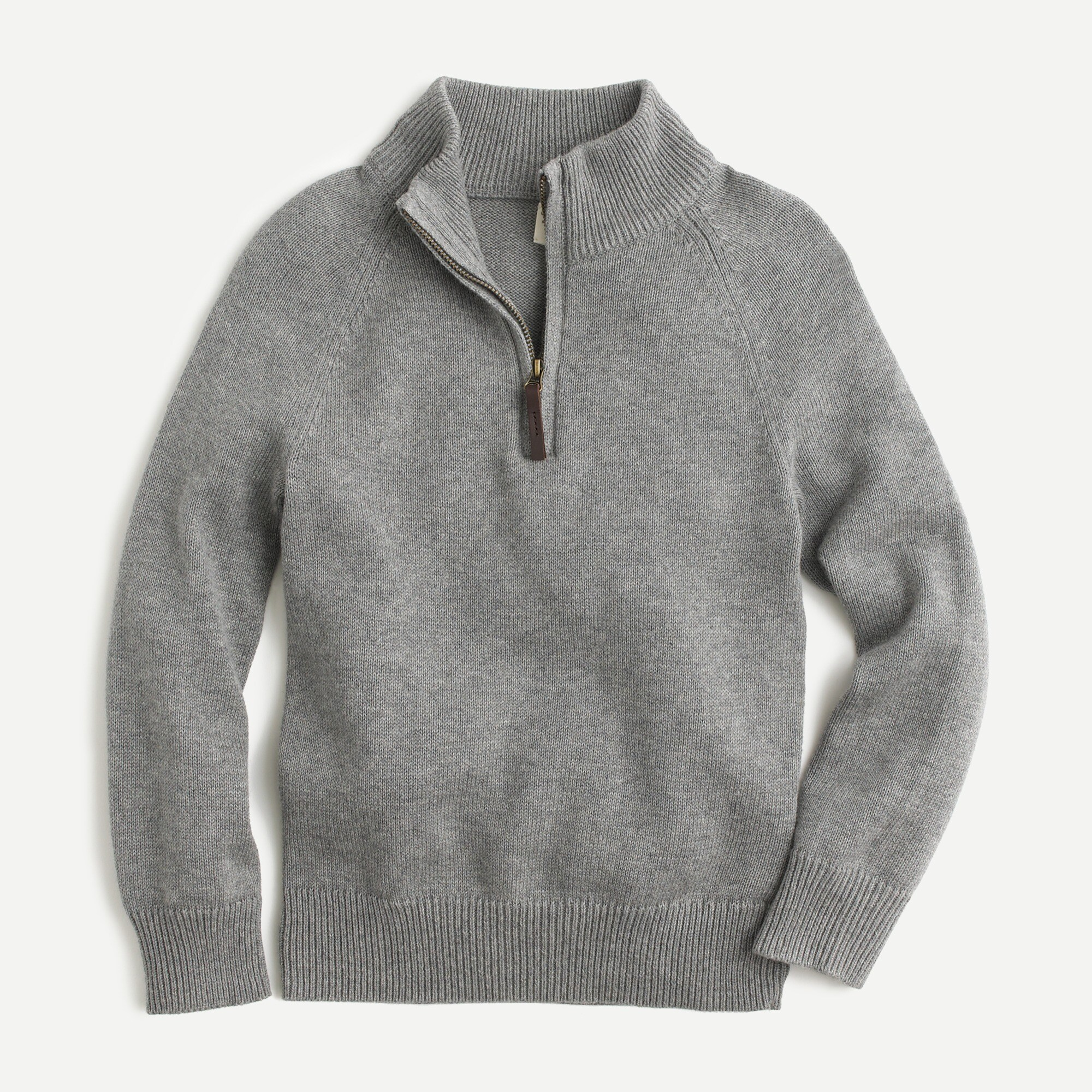 Image 1 for Boys' cotton-cashmere half-zip sweater