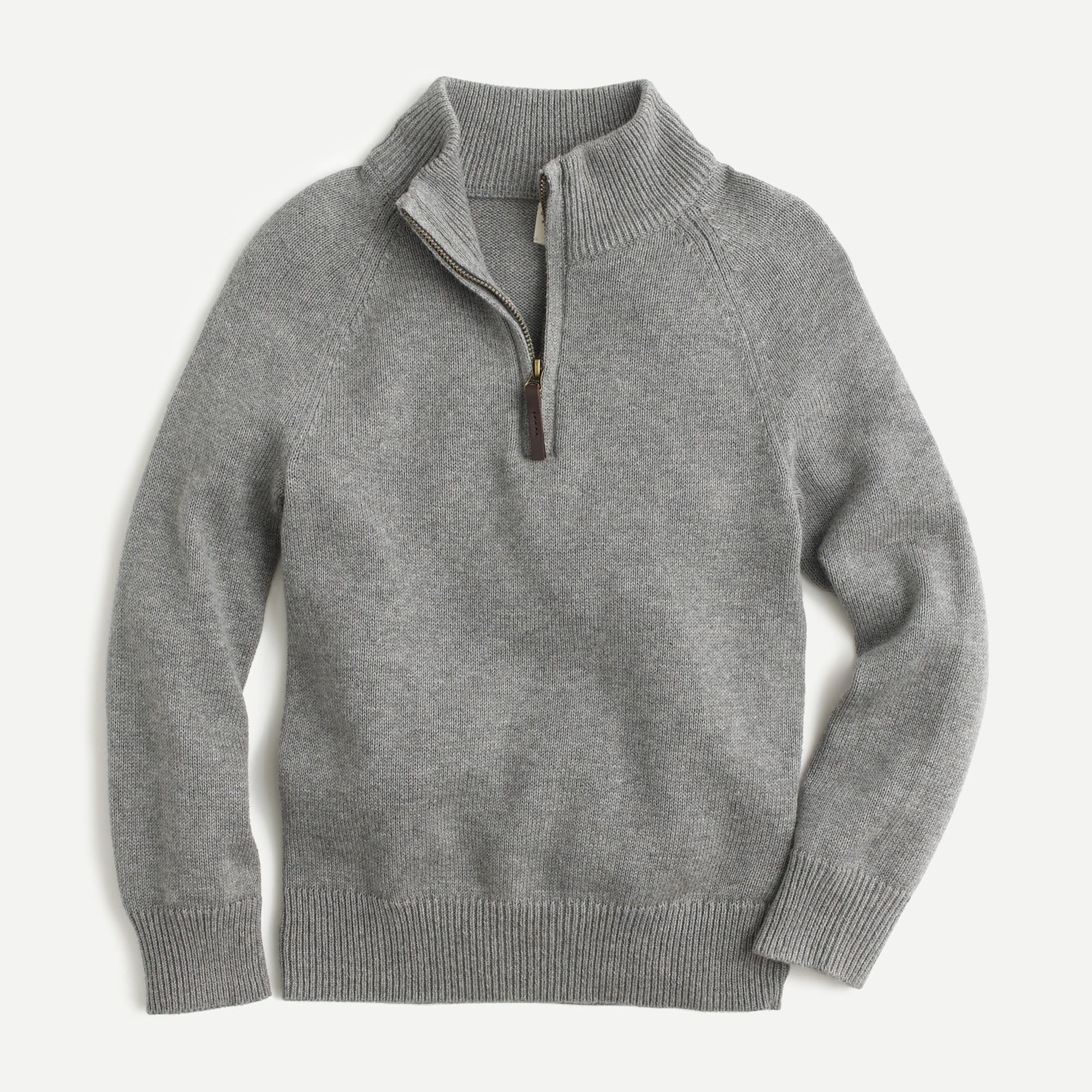 boys' cotton-cashmere half-zip sweater - boys' tops