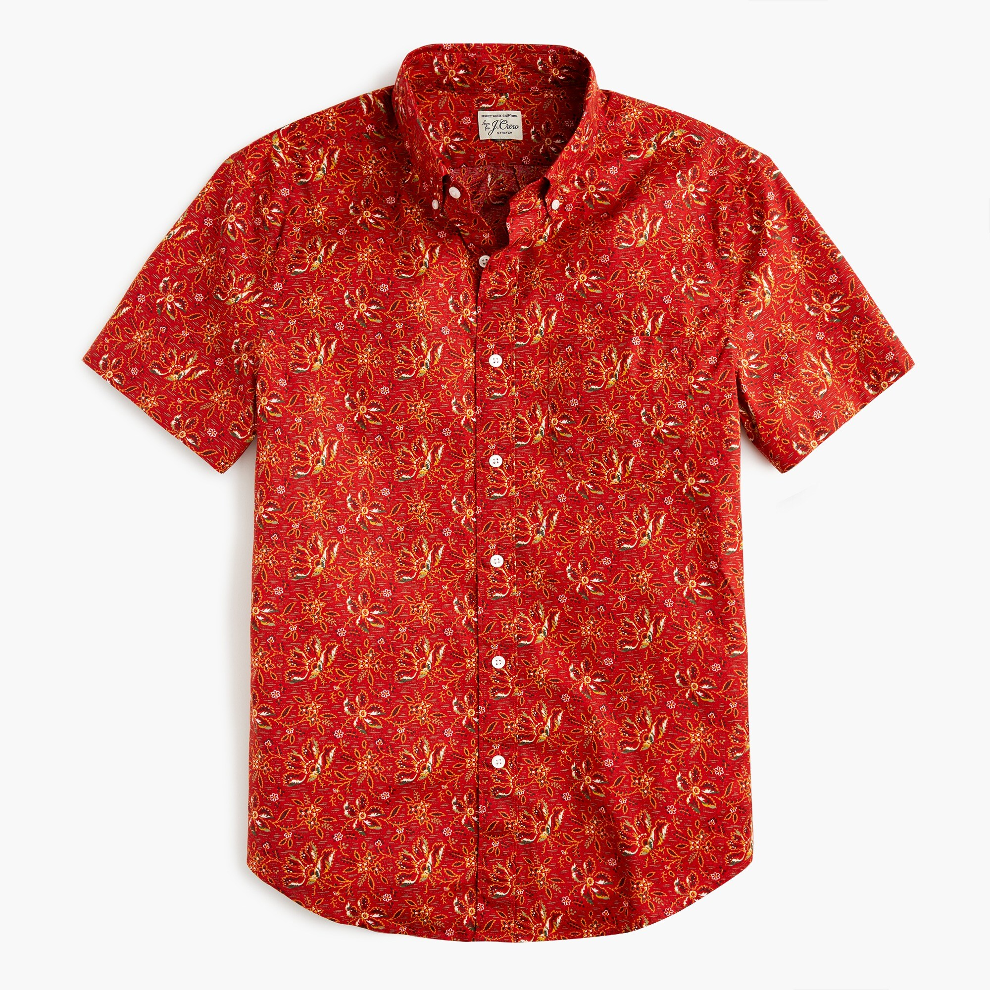 mens Short-sleeve Secret Wash shirt in desert floral print