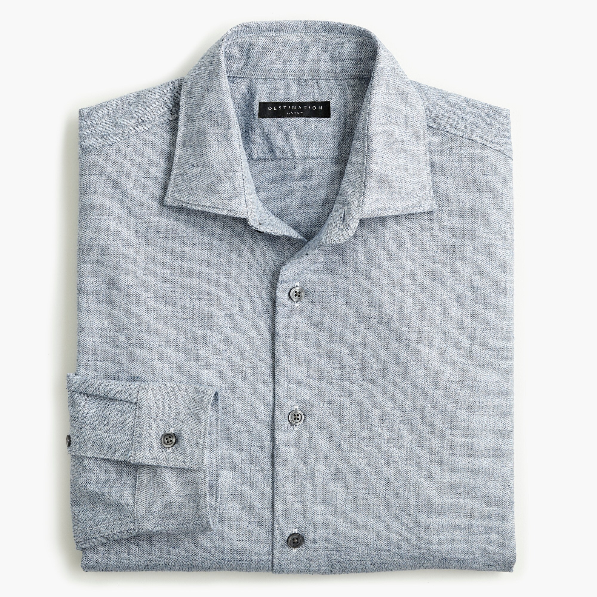 mens Destination heathered straight-hem shirt