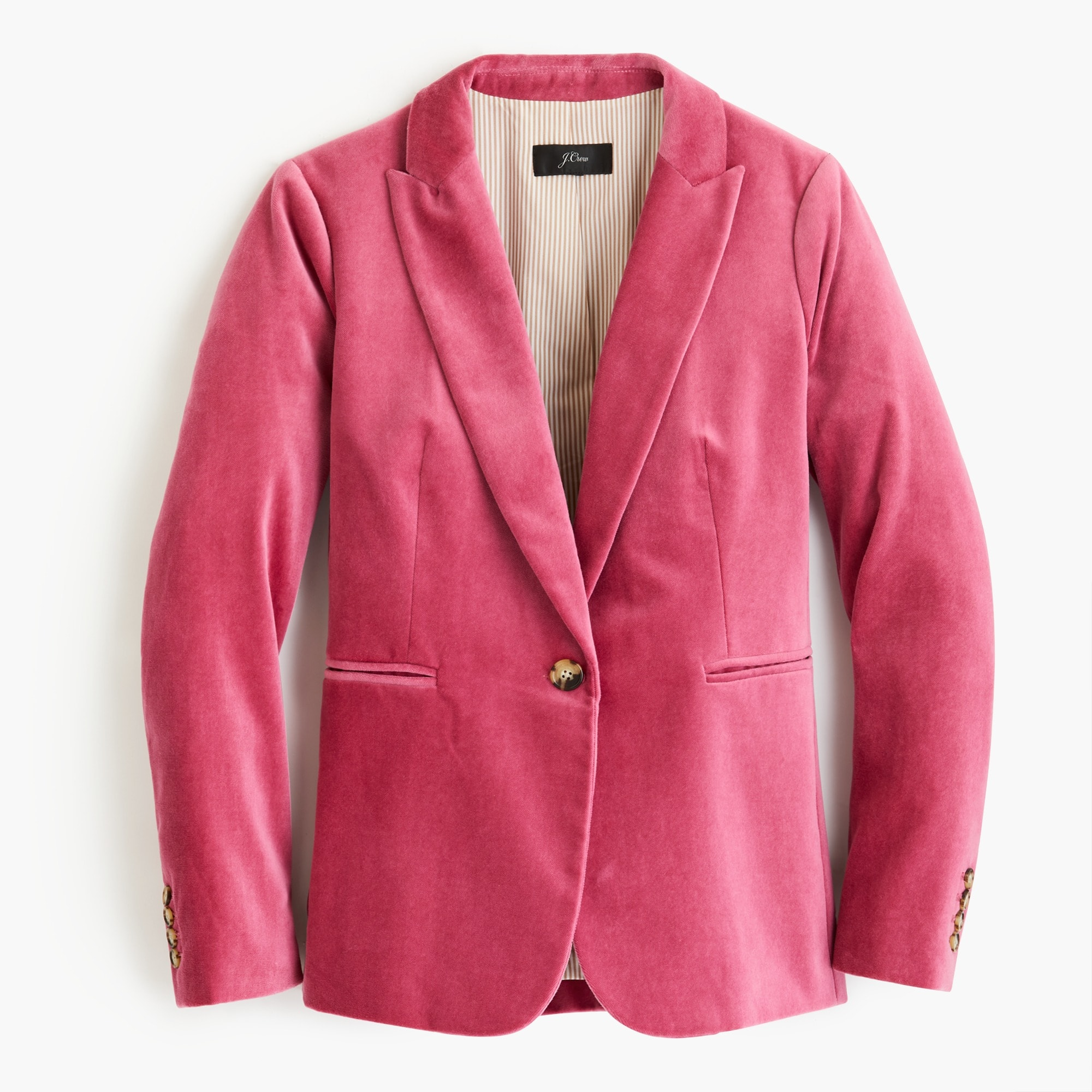 tall parke blazer in velvet : women single breasted