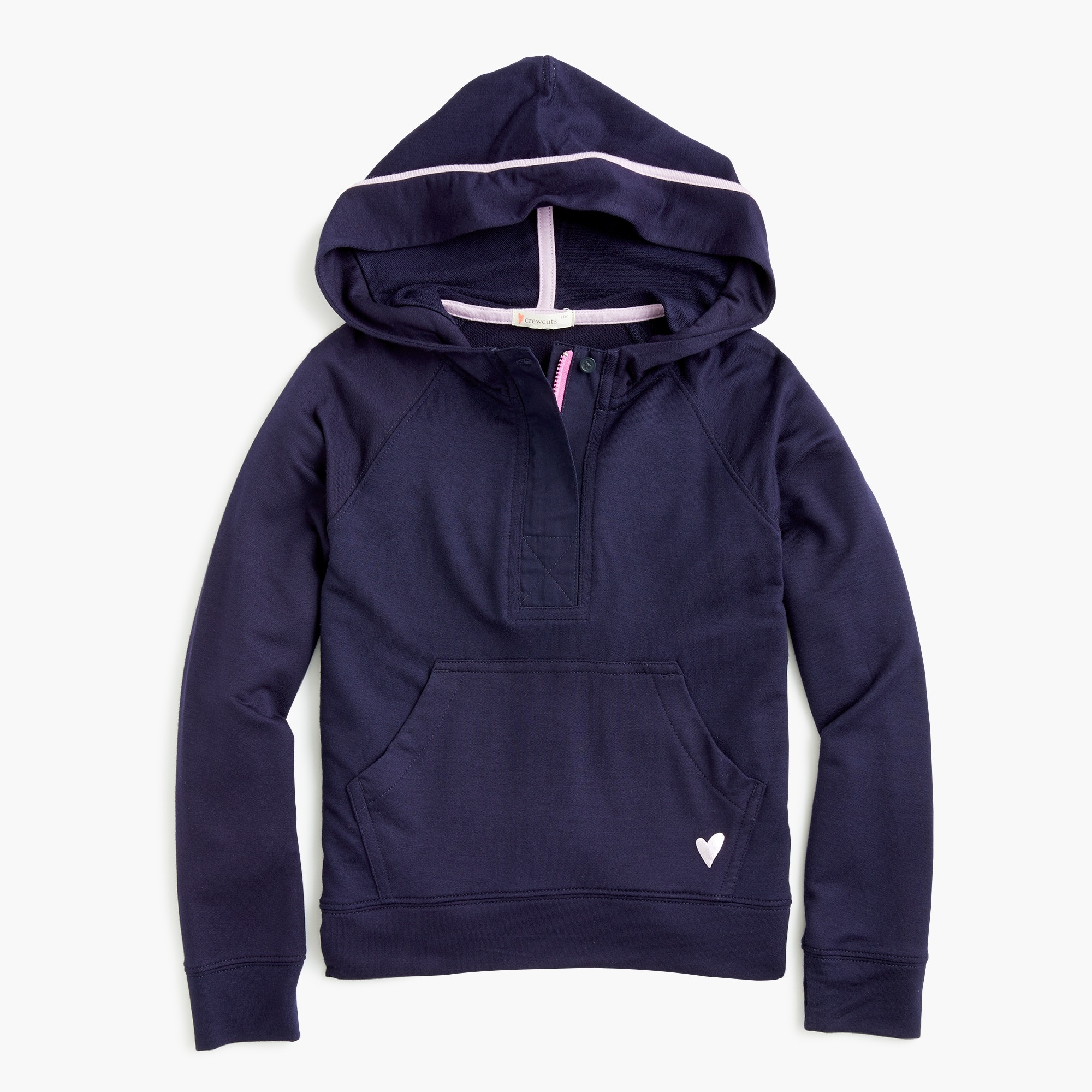 girls Girls' supersoft half-zip hoodie