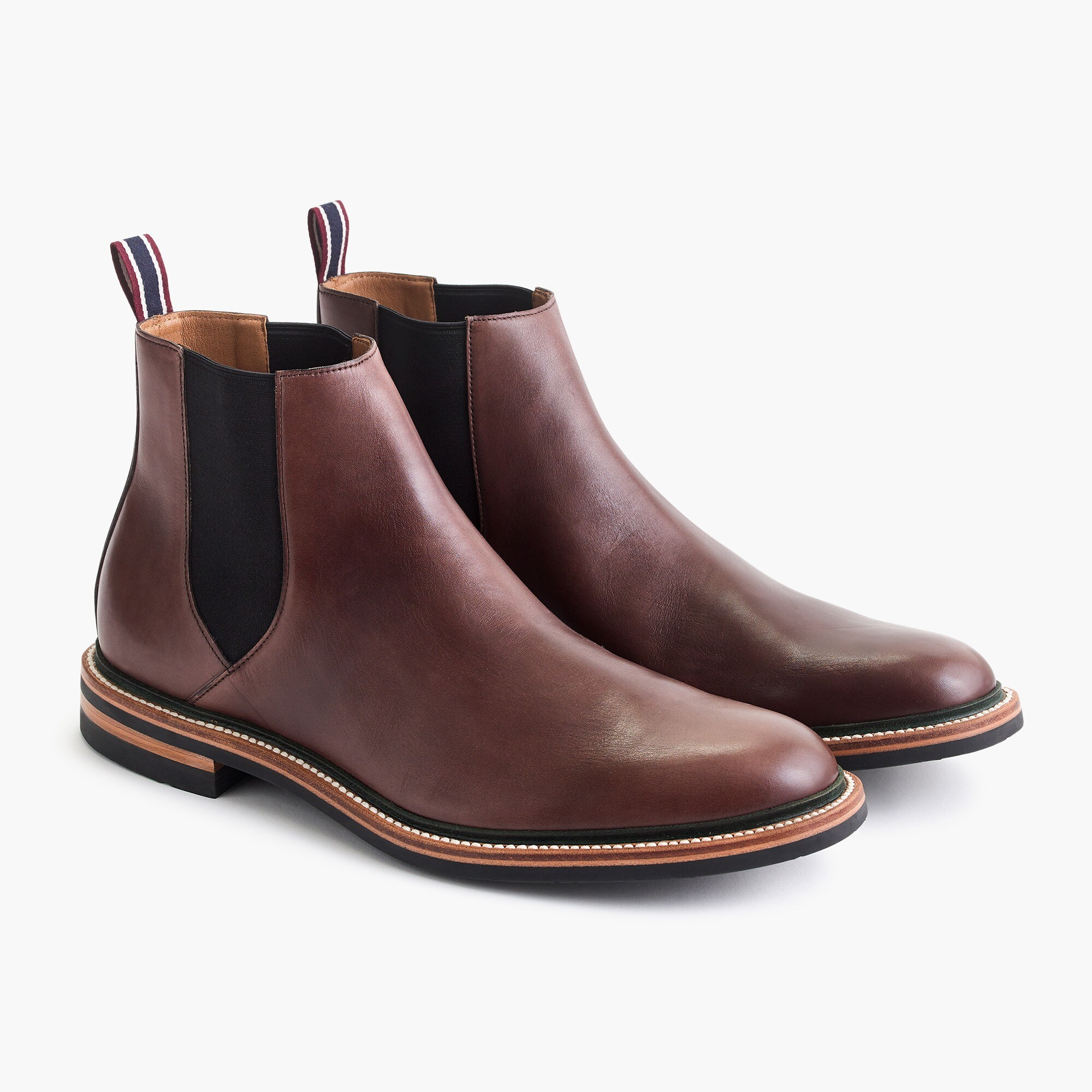 mens Oar Stripe Chelsea boots in Italian leather