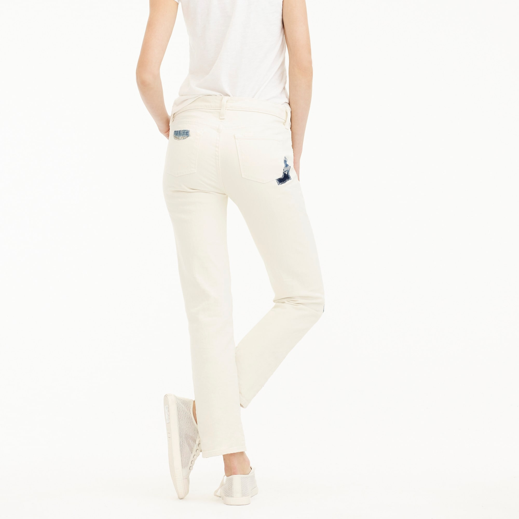 Image 4 for Sean Hornbeak for J.Crew slim boyfriend jean with indigo patches in white
