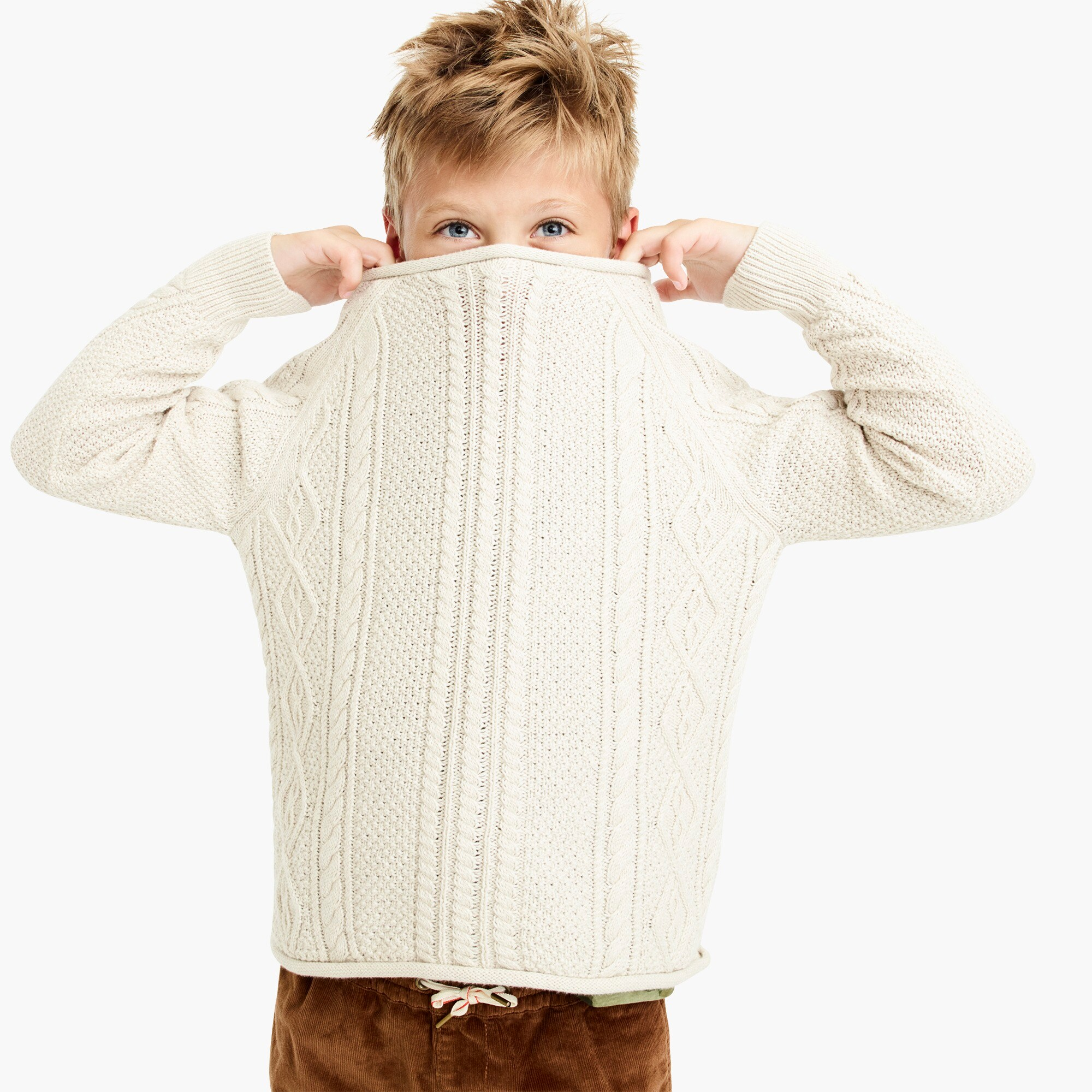 boys Boys' cable-knit rollneck™ sweater