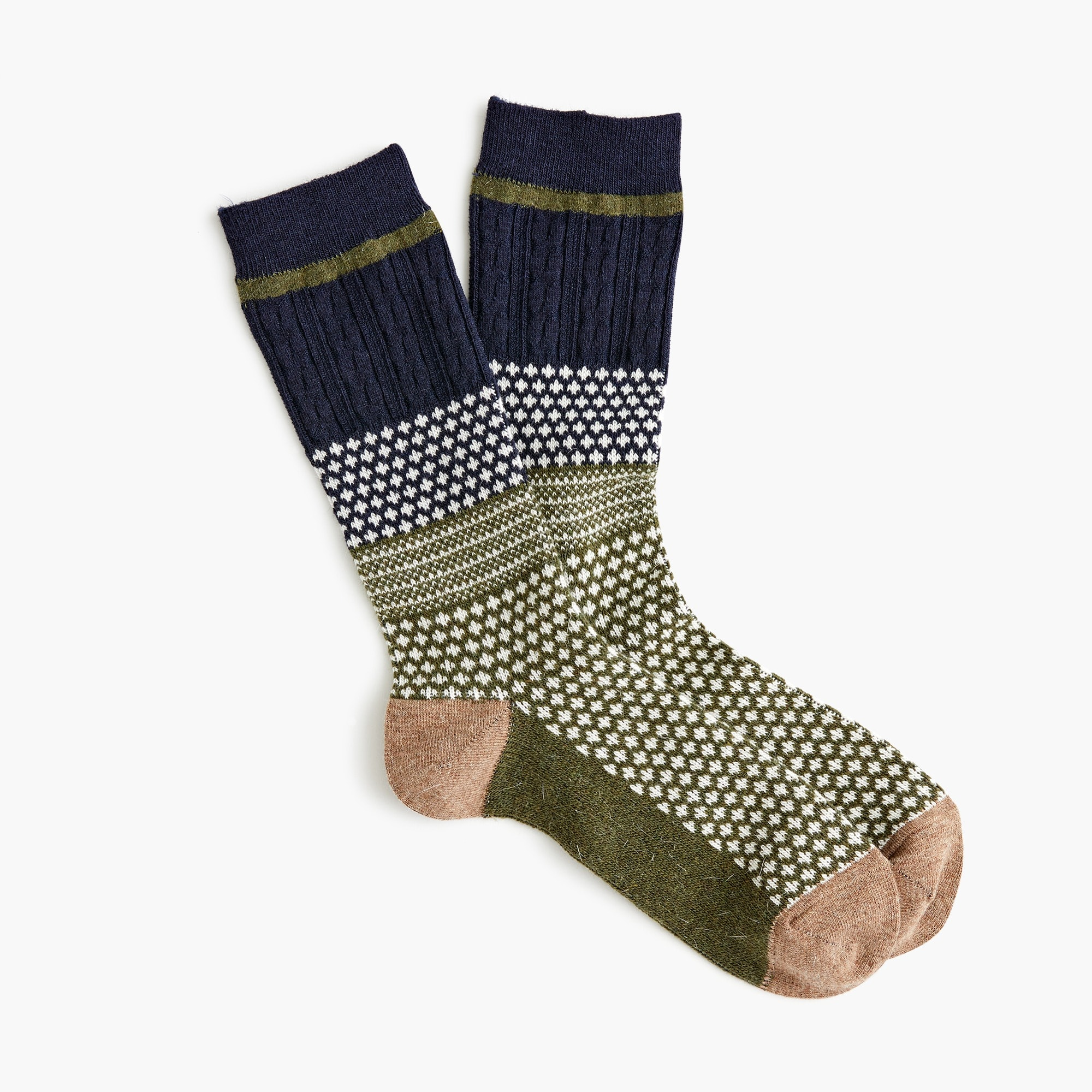 mens Anonymous Ism™ moss navy crew socks
