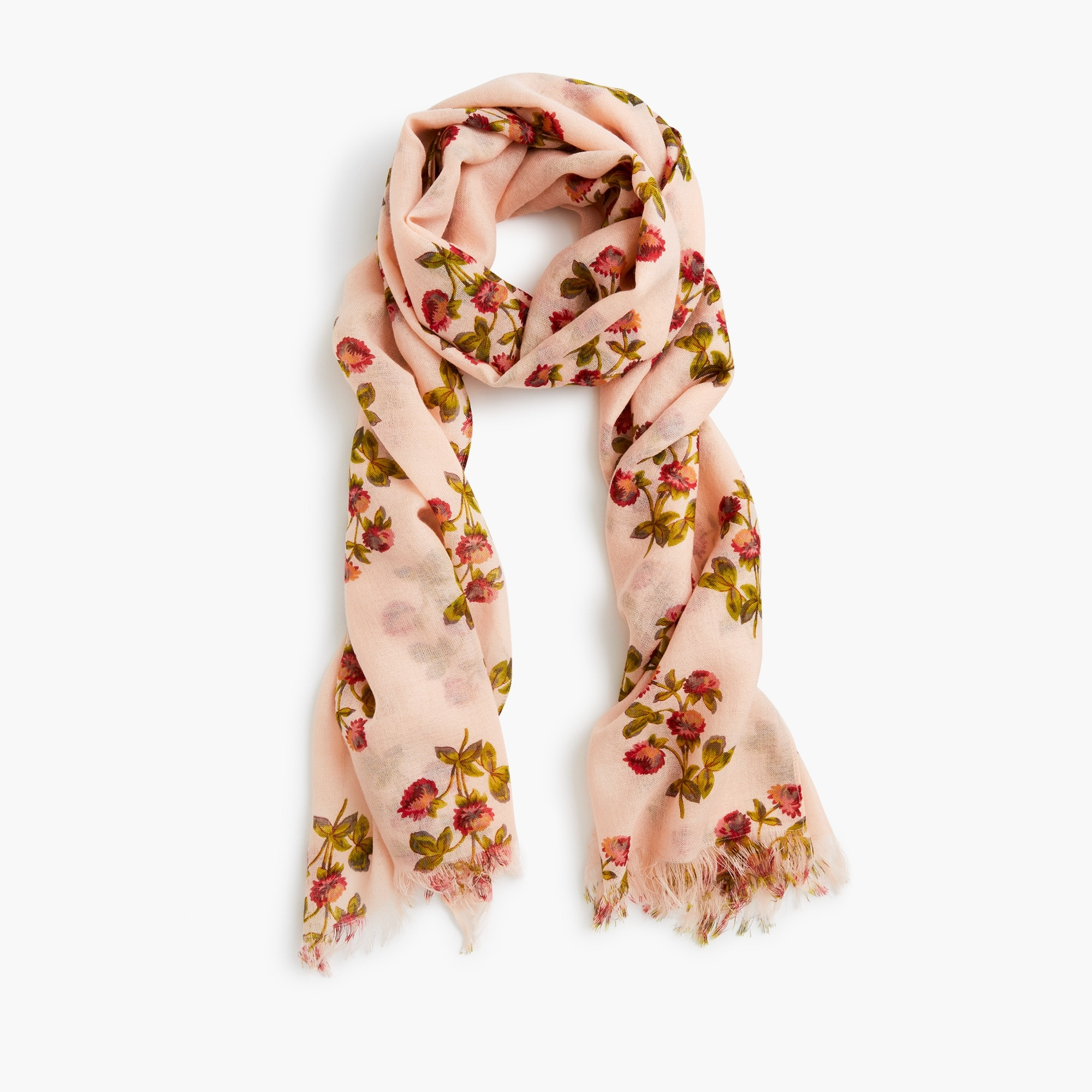 lightweight wool scarf in vintage floral : women scarves