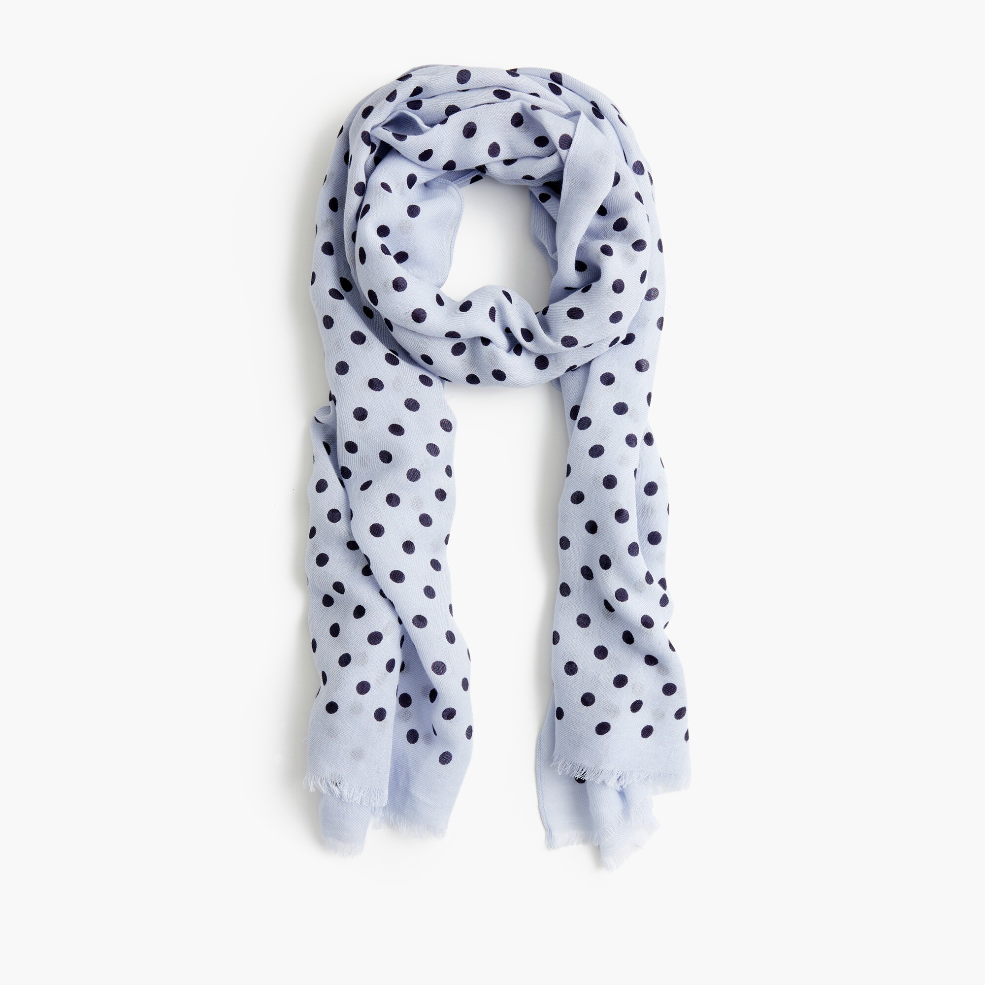 Image 3 for Polka-dot midseason scarf