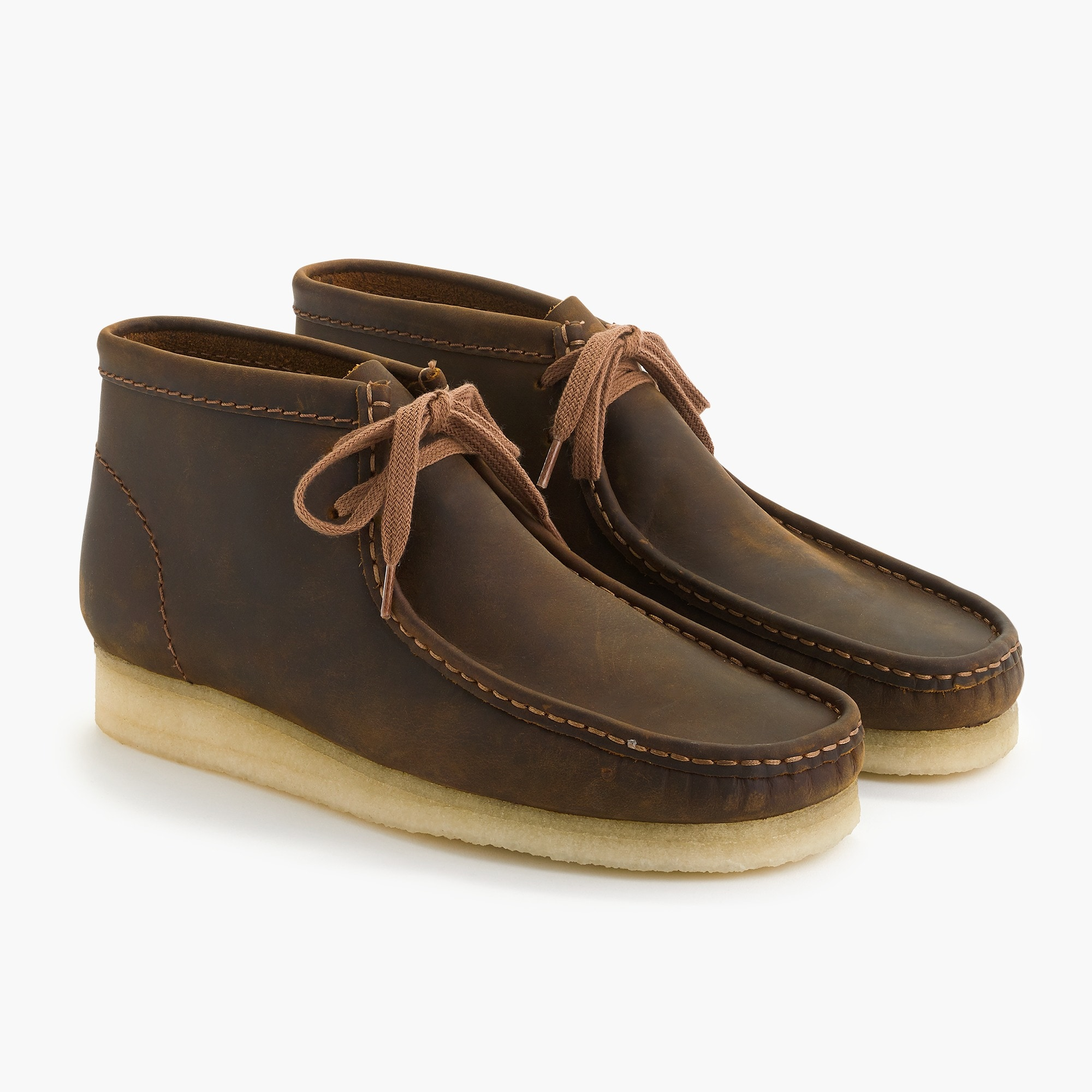 mens Clarks® Originals Wallabee® boots in leather