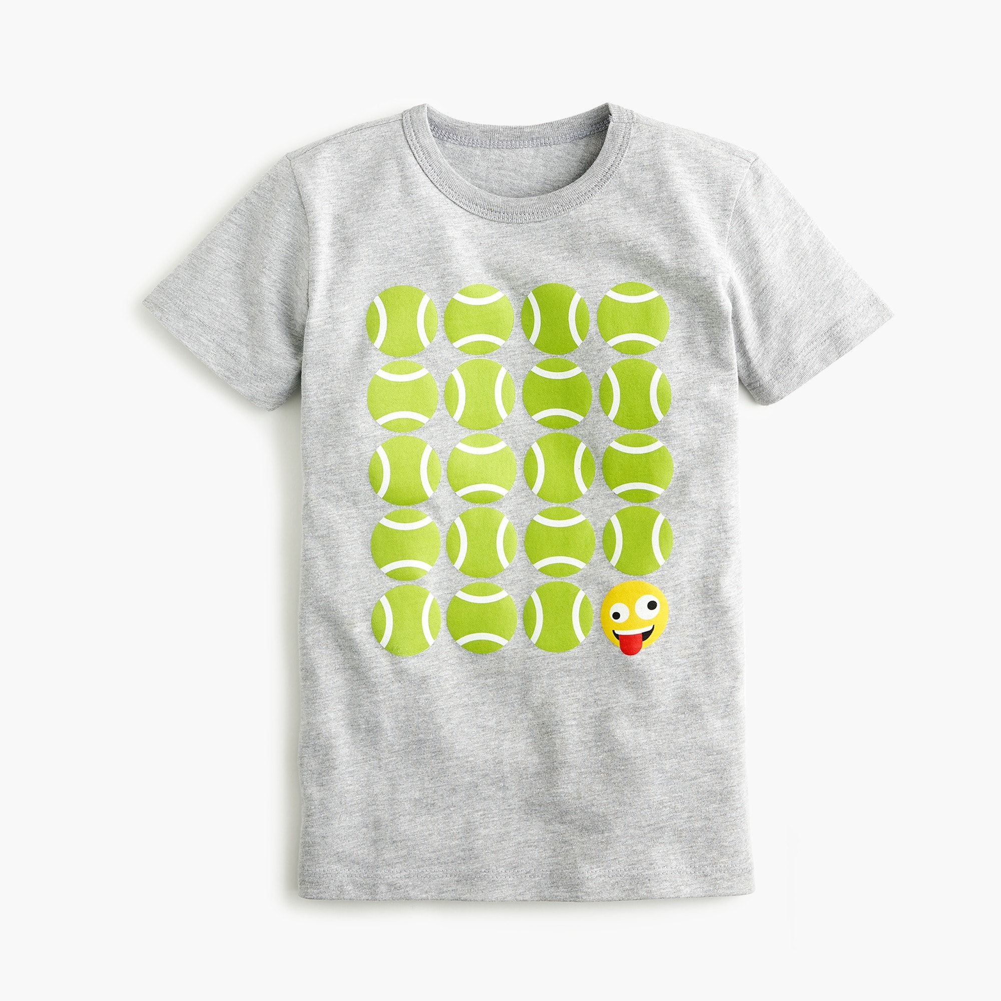 Boys' tennis emoji T-shirt boy new arrivals c