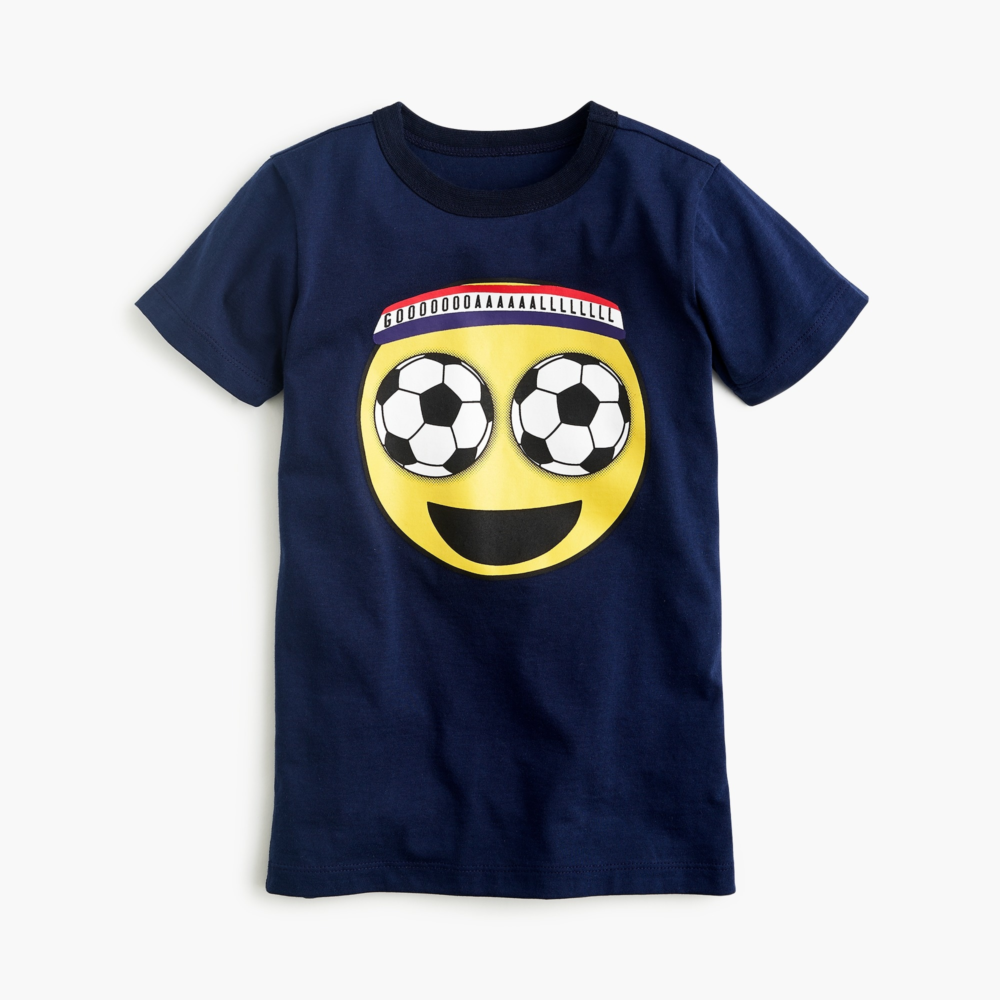 Boys' soccer-eyes emoji T-shirt boy new arrivals c