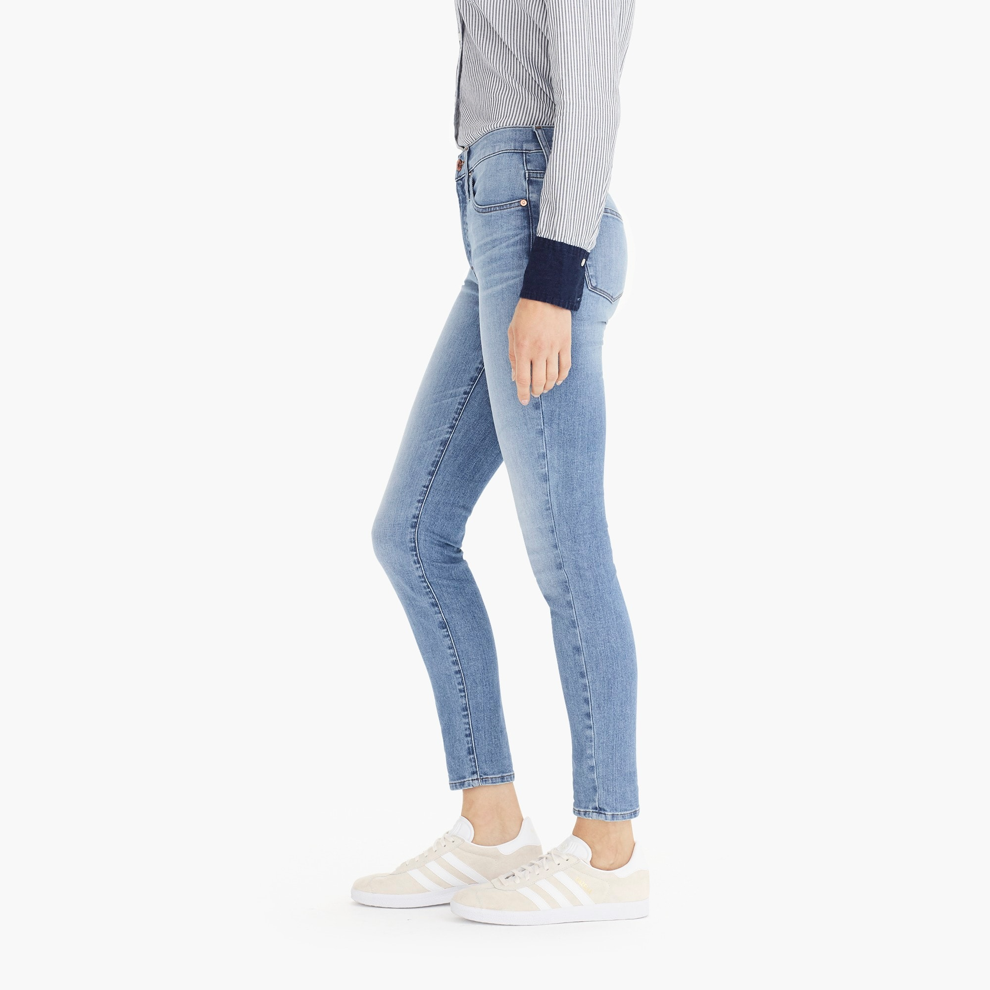 "Image 5 for Petite 9"" high-rise toothpick eco jean in light blue wash"