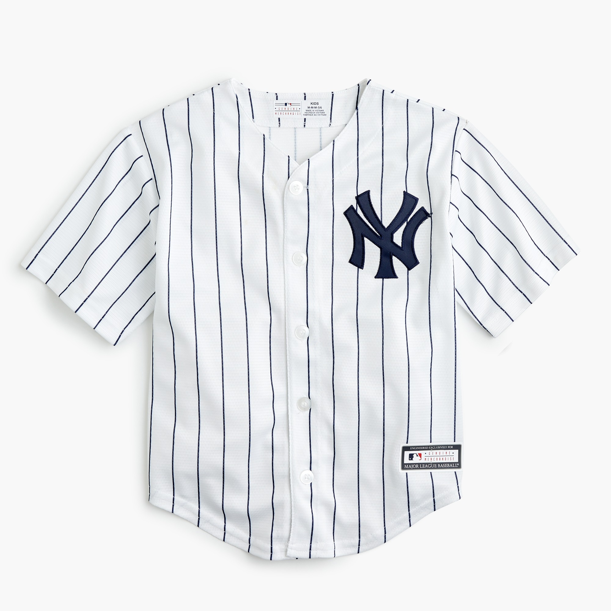 Kids' New York Yankees jersey in larger sizes