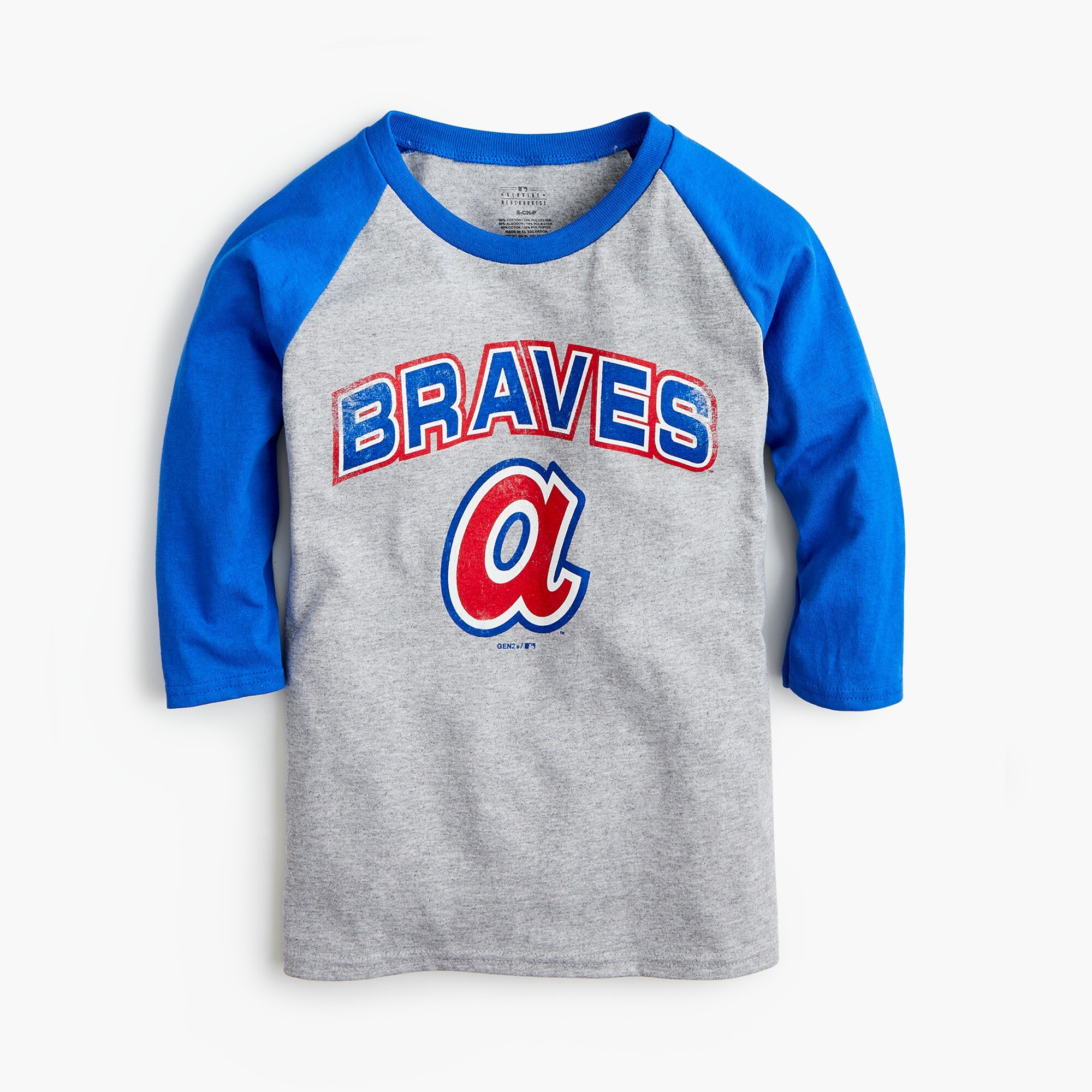 Kids' Atlanta Braves baseball T-shirt boy new arrivals c