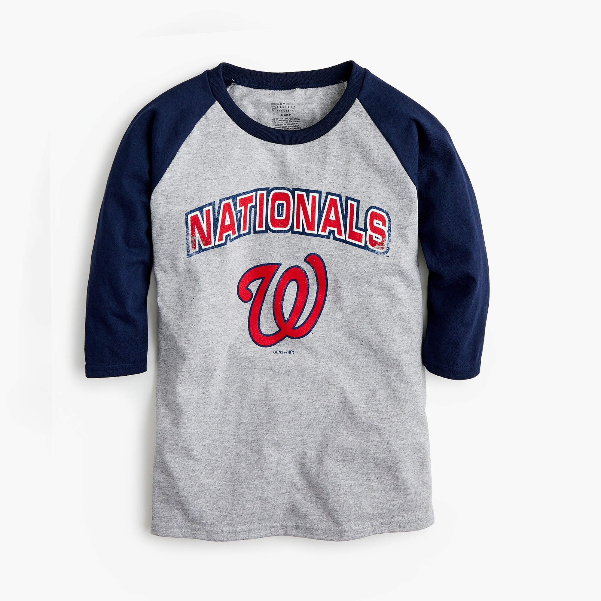 Kids' Washington Nationals baseball T-shirt boy graphics shop c