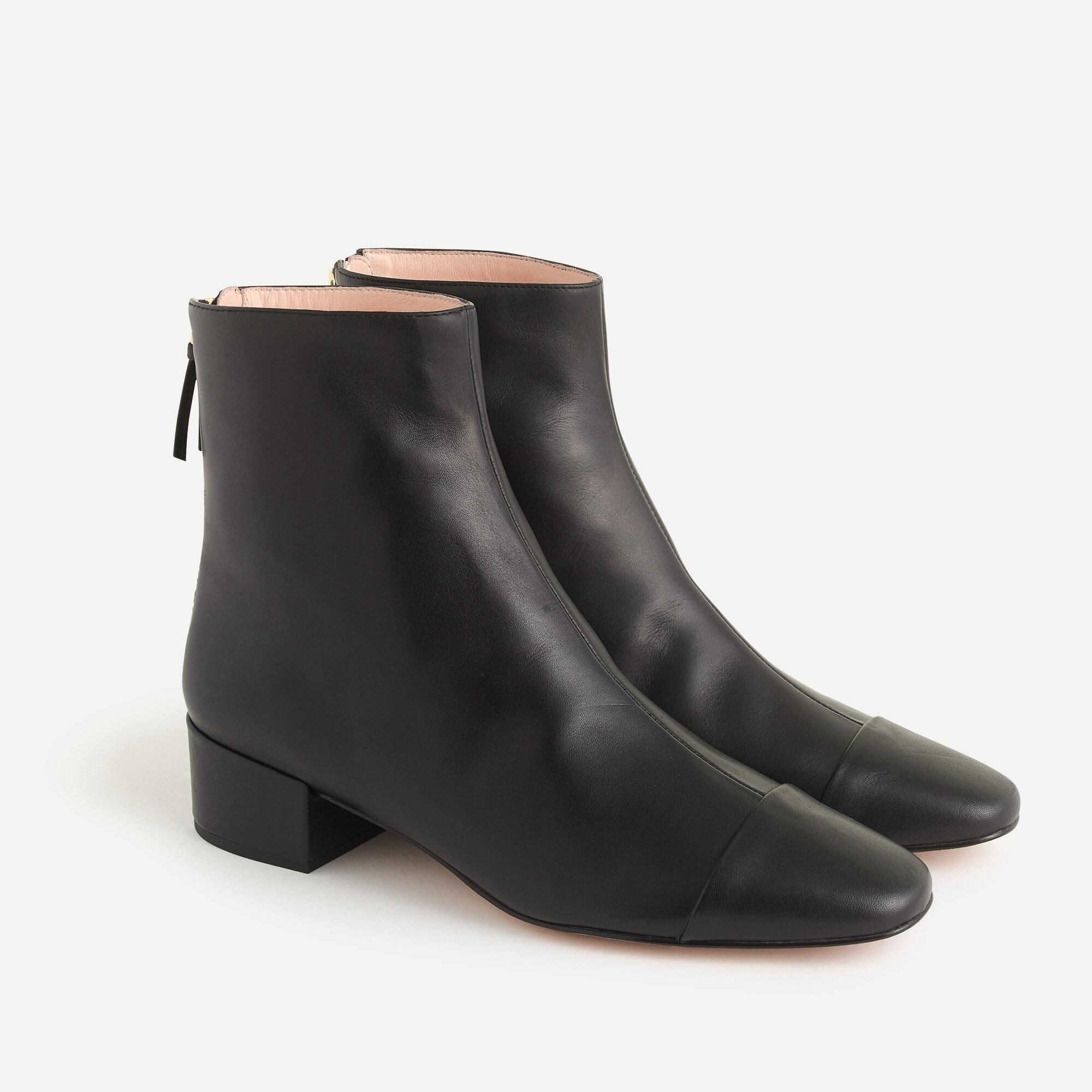 cap-toe ankle boots : women boots