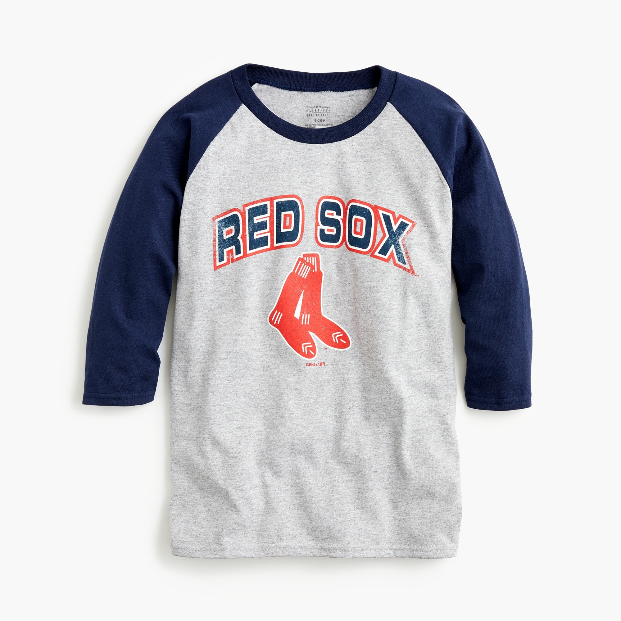Kids' Boston Red Sox baseball T-shirt boy graphics shop c