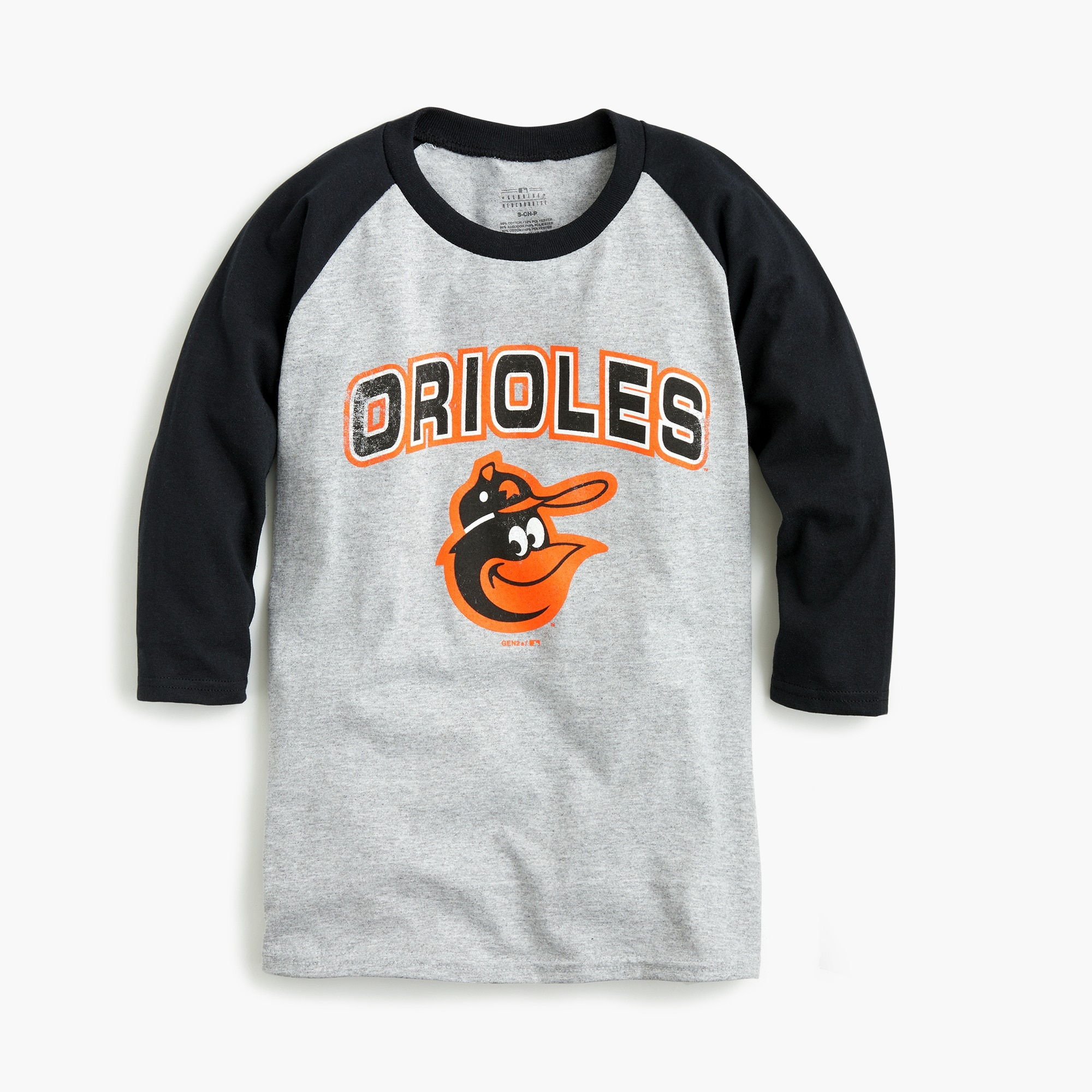 Kids' Baltimore Orioles baseball T-shirt boy graphics shop c
