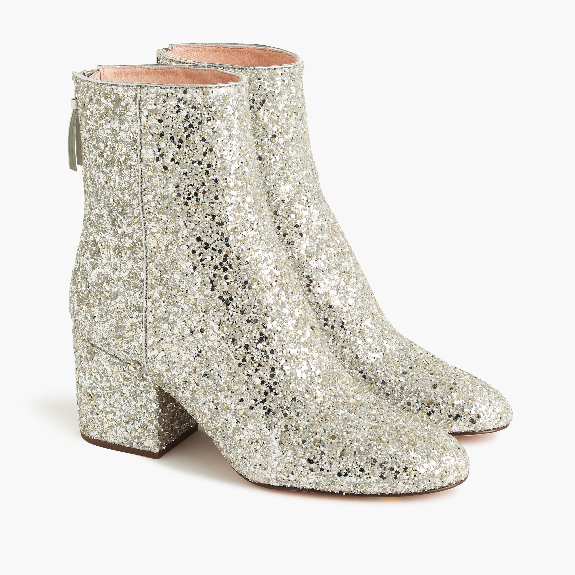 womens Sadie ankle boots in glitter