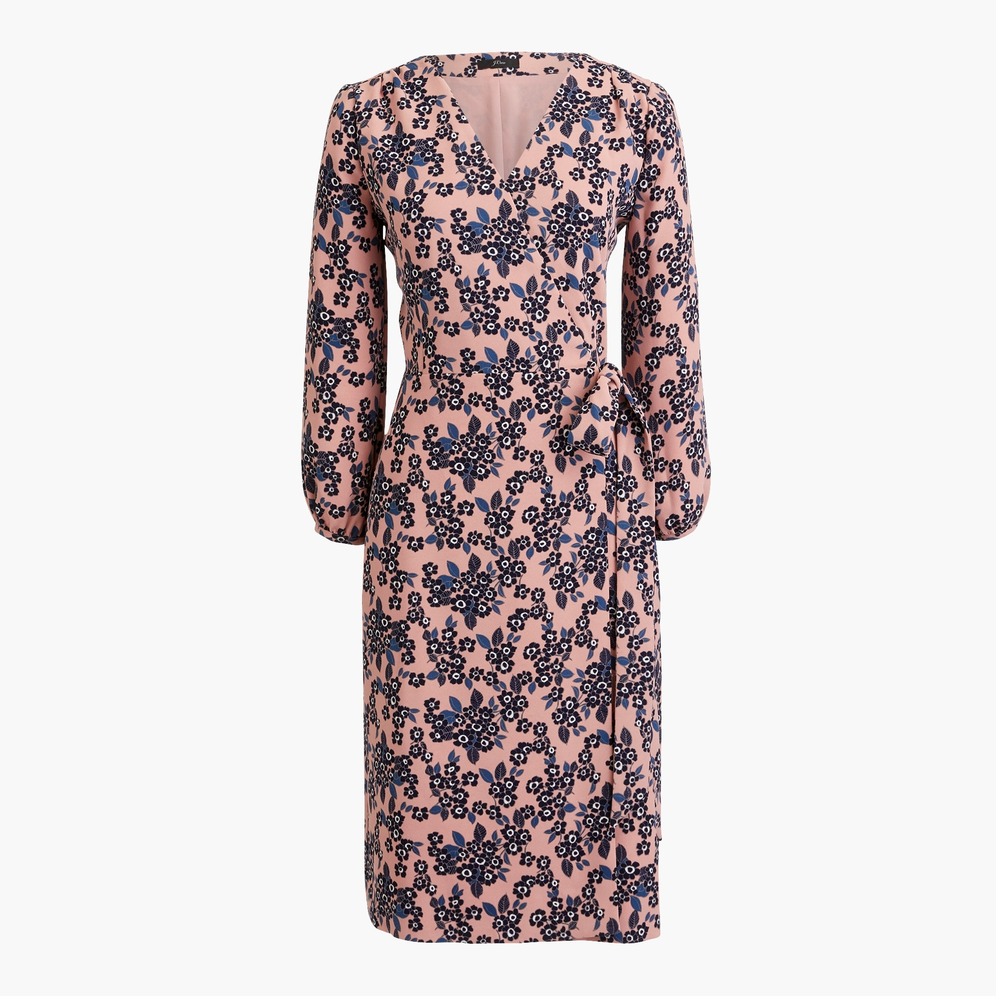 Wrap dress in 365 crepe blush bouquet