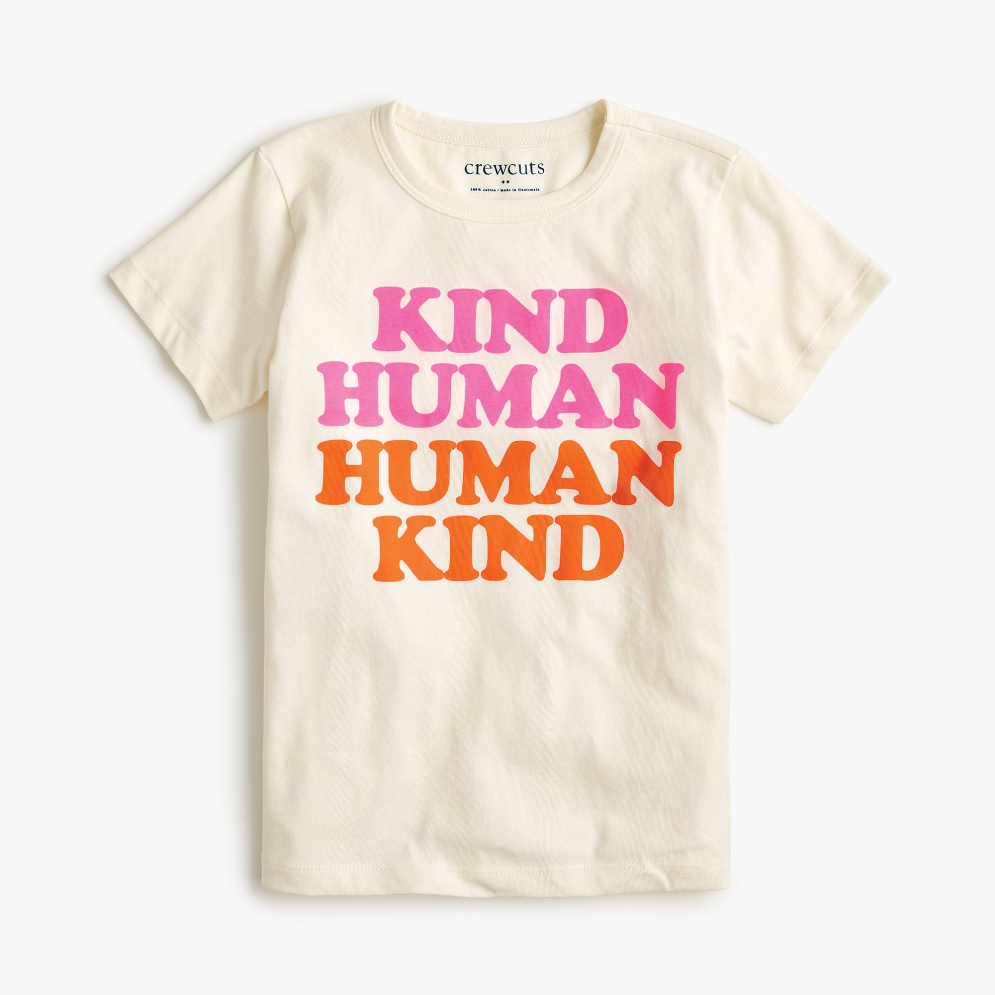 "girls Girls' ""human kind"" T-shirt"