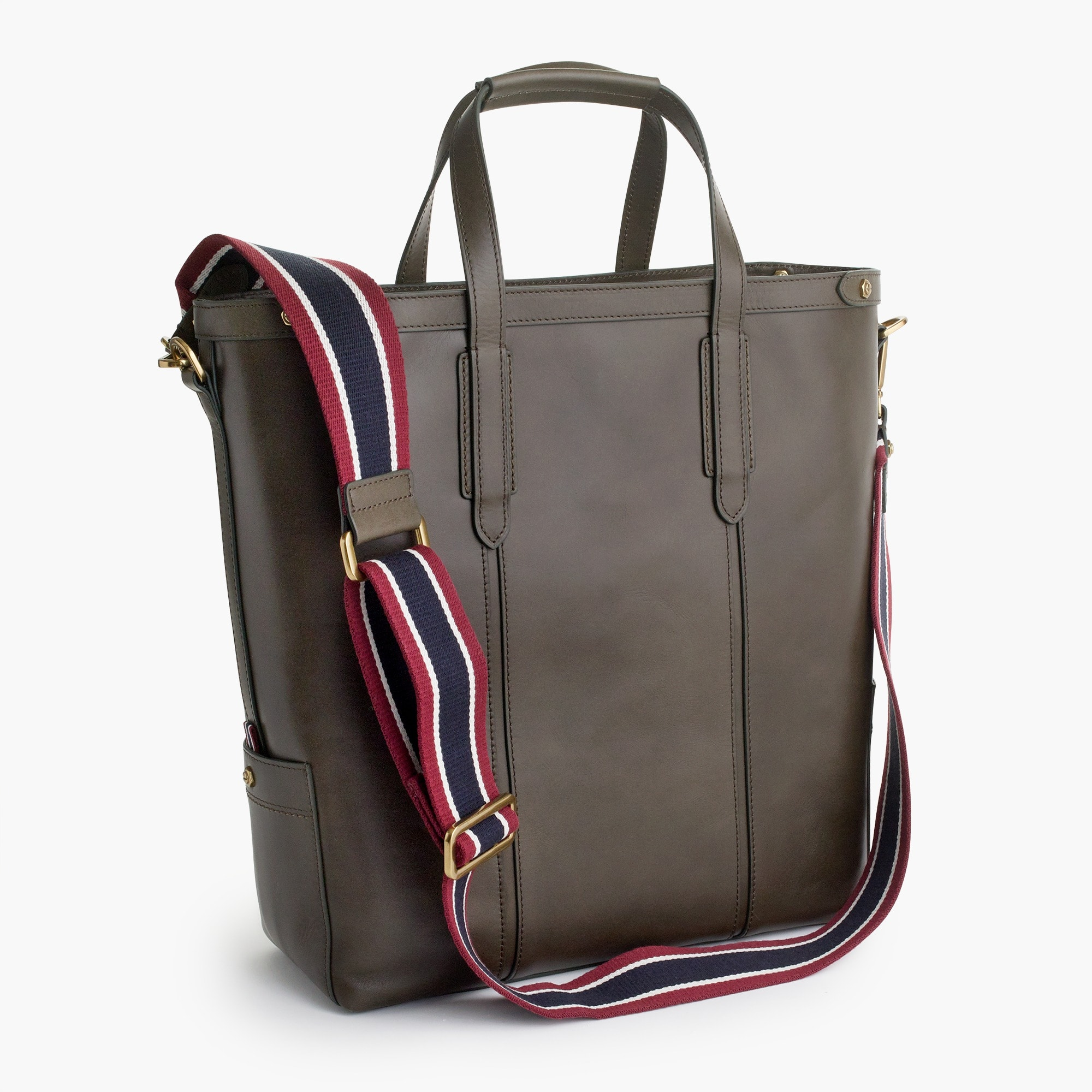 mens Oar Stripe leather tote bag
