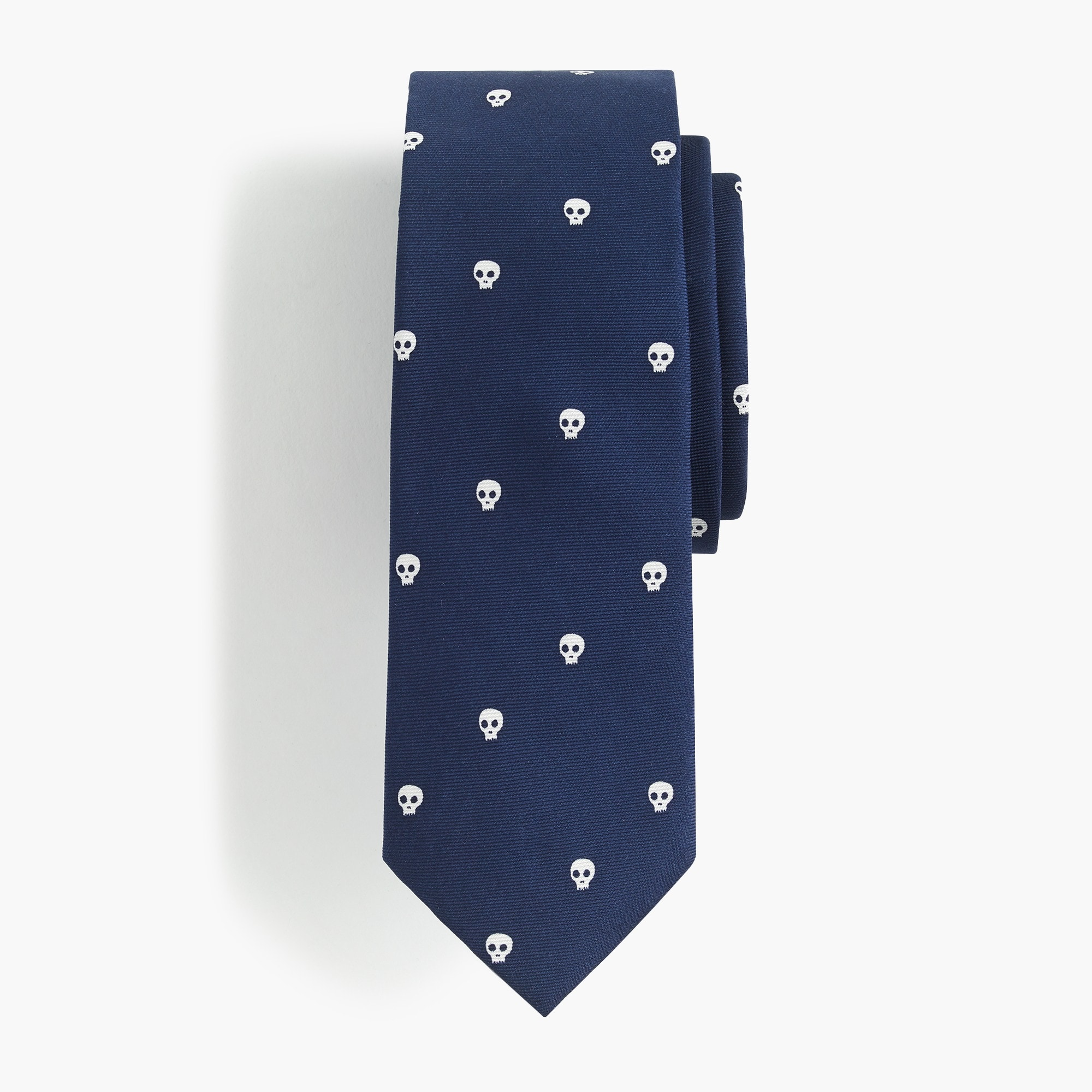 boys' silk tie in skull print - boys' accessories