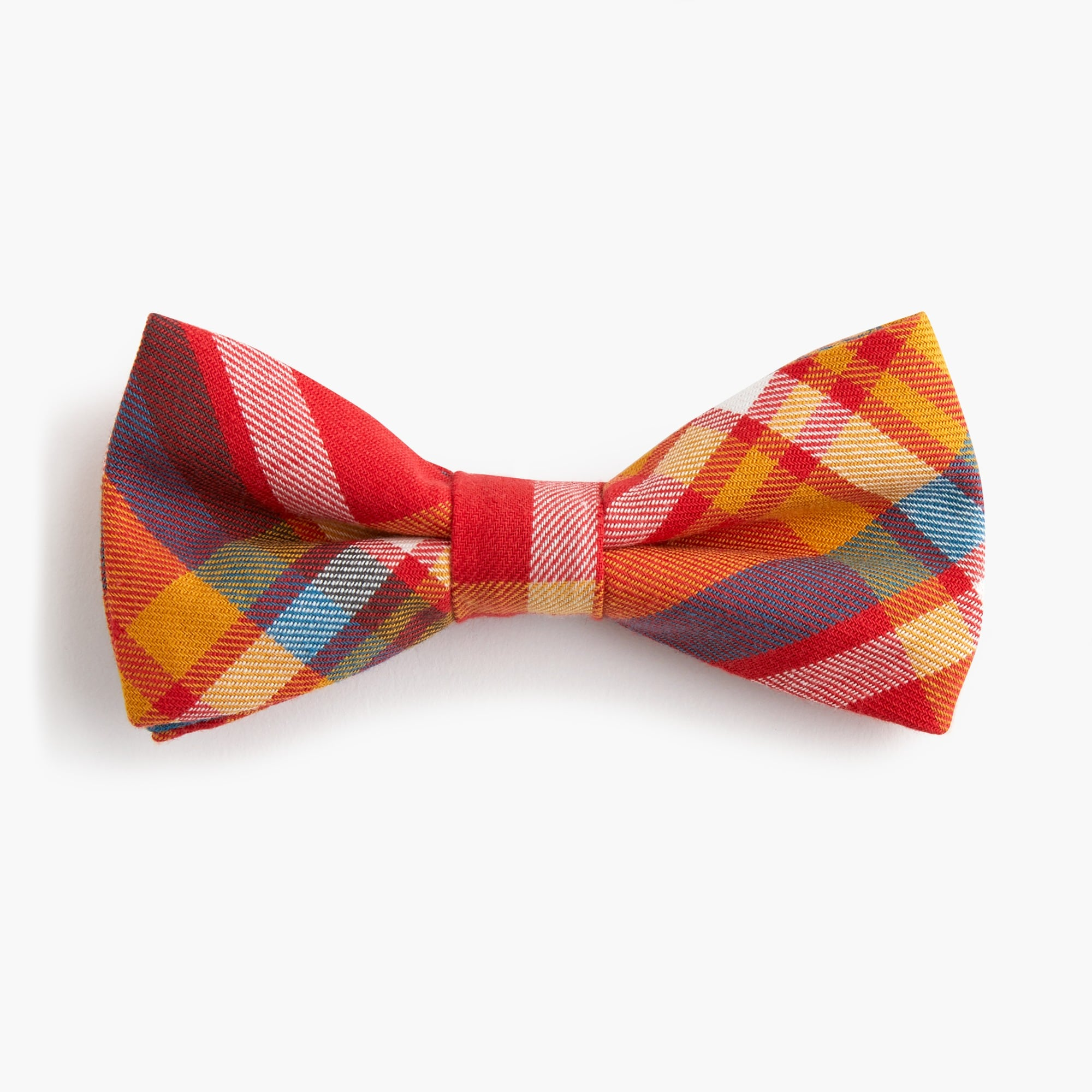 Image 1 for Boys' straight bow tie in plaid