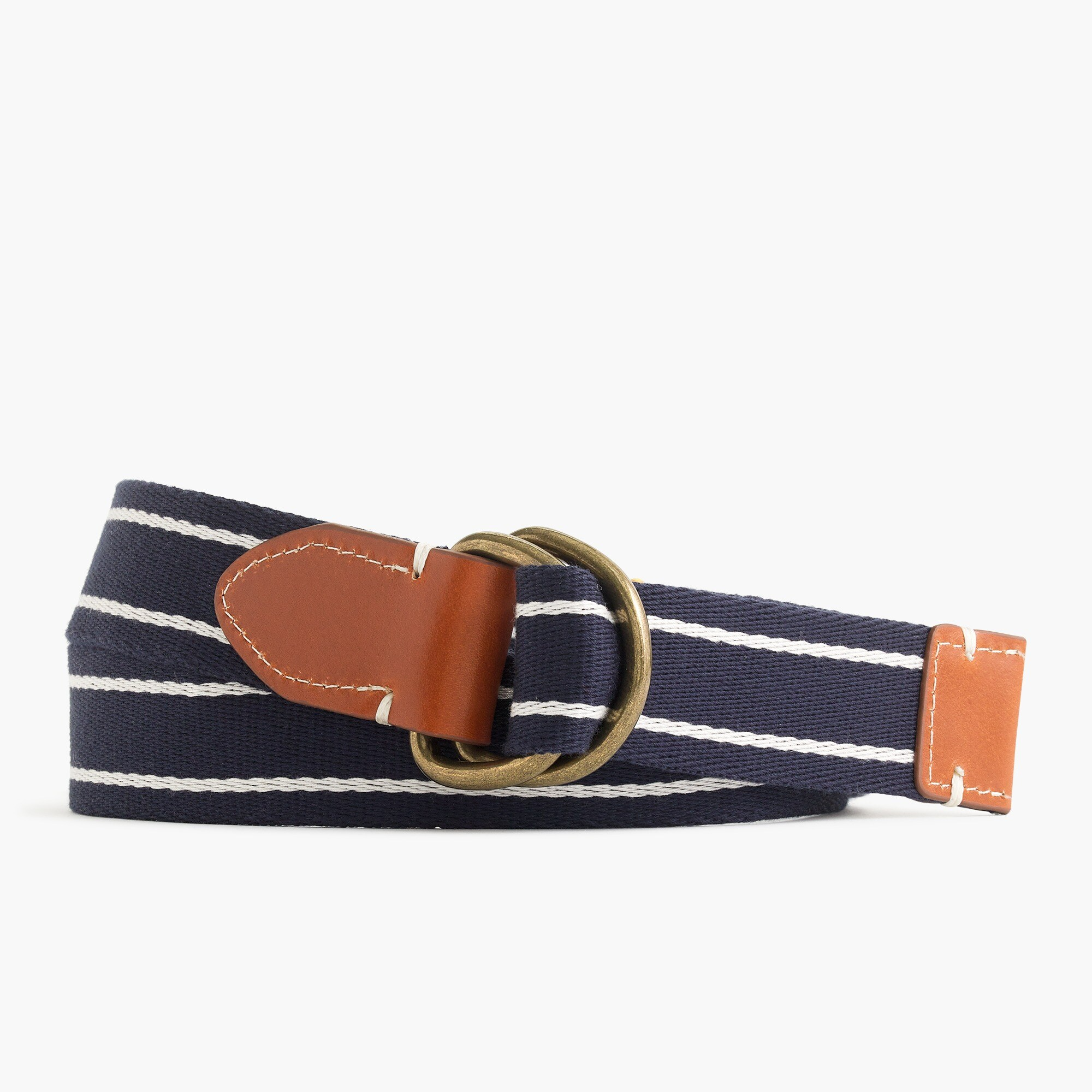 men's cotton belt in horizontal stripe - men's belts