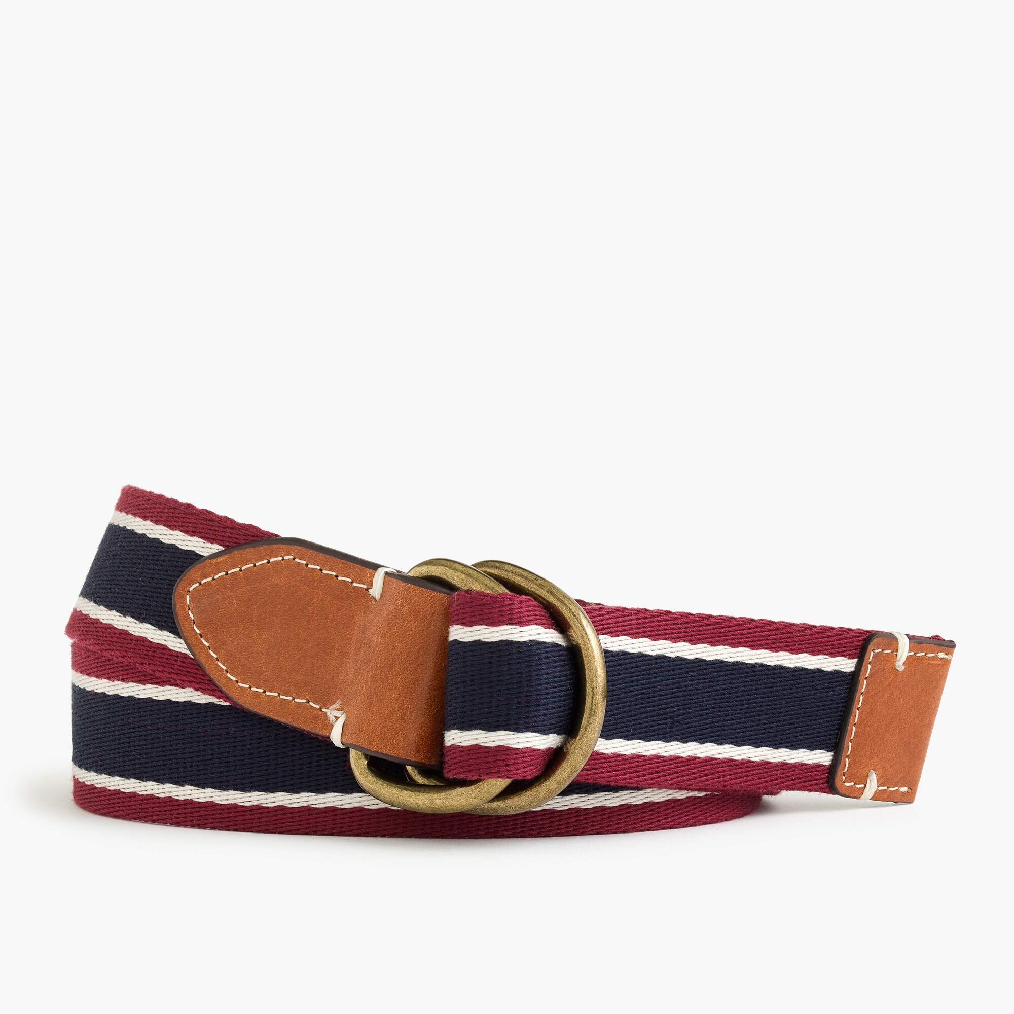 mens Cotton belt in Oar Stripe