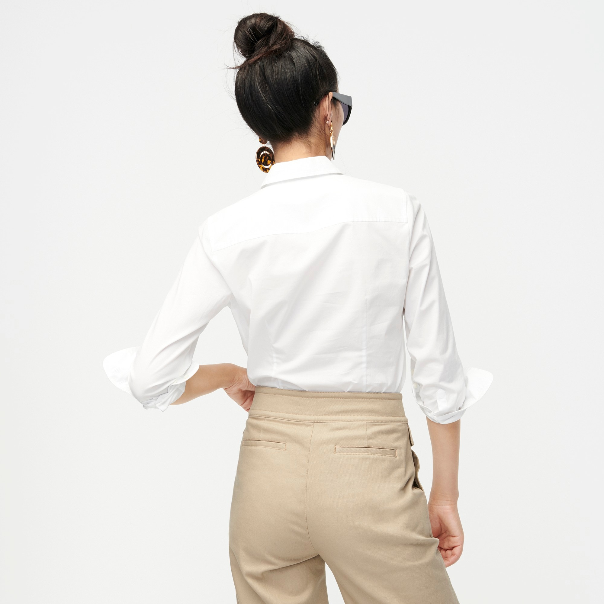 Image 4 for Petite curvy slim stretch perfect shirt