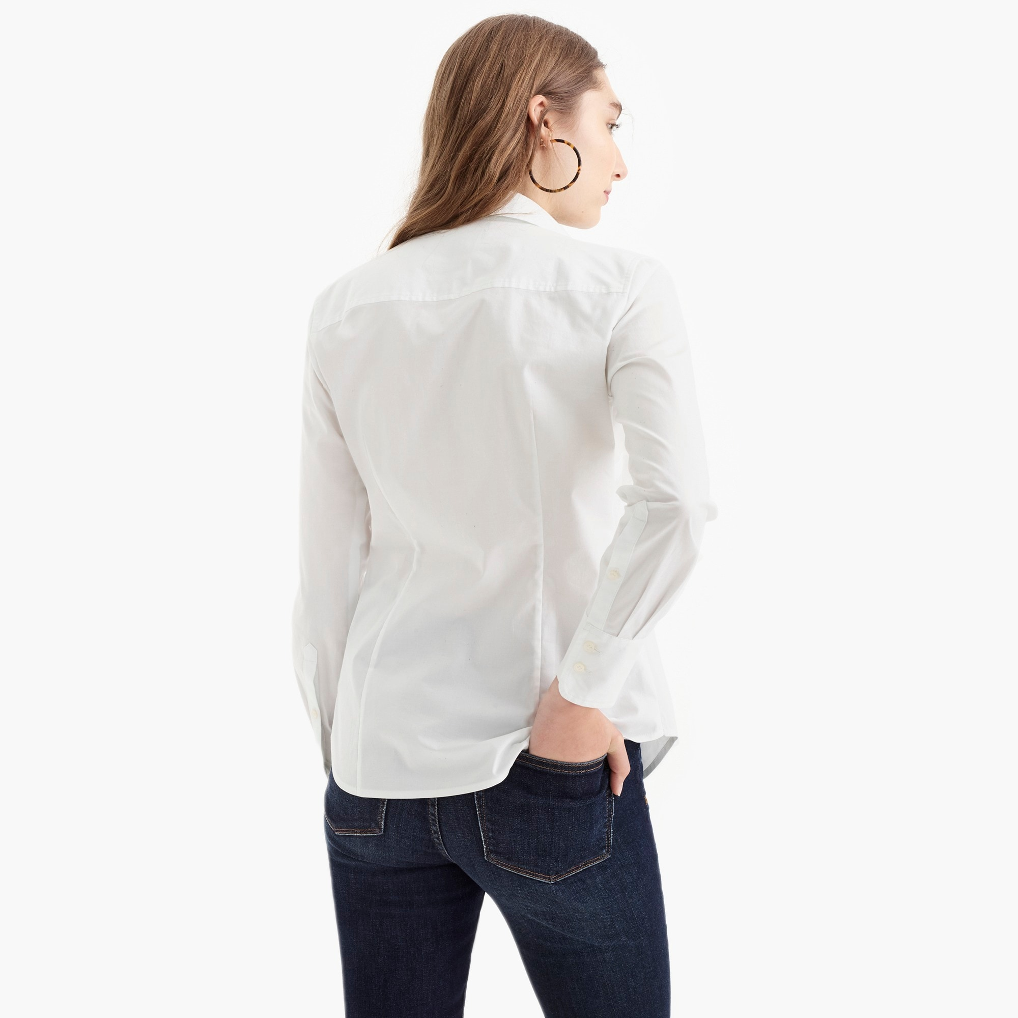 Image 5 for Petite curvy slim stretch perfect shirt