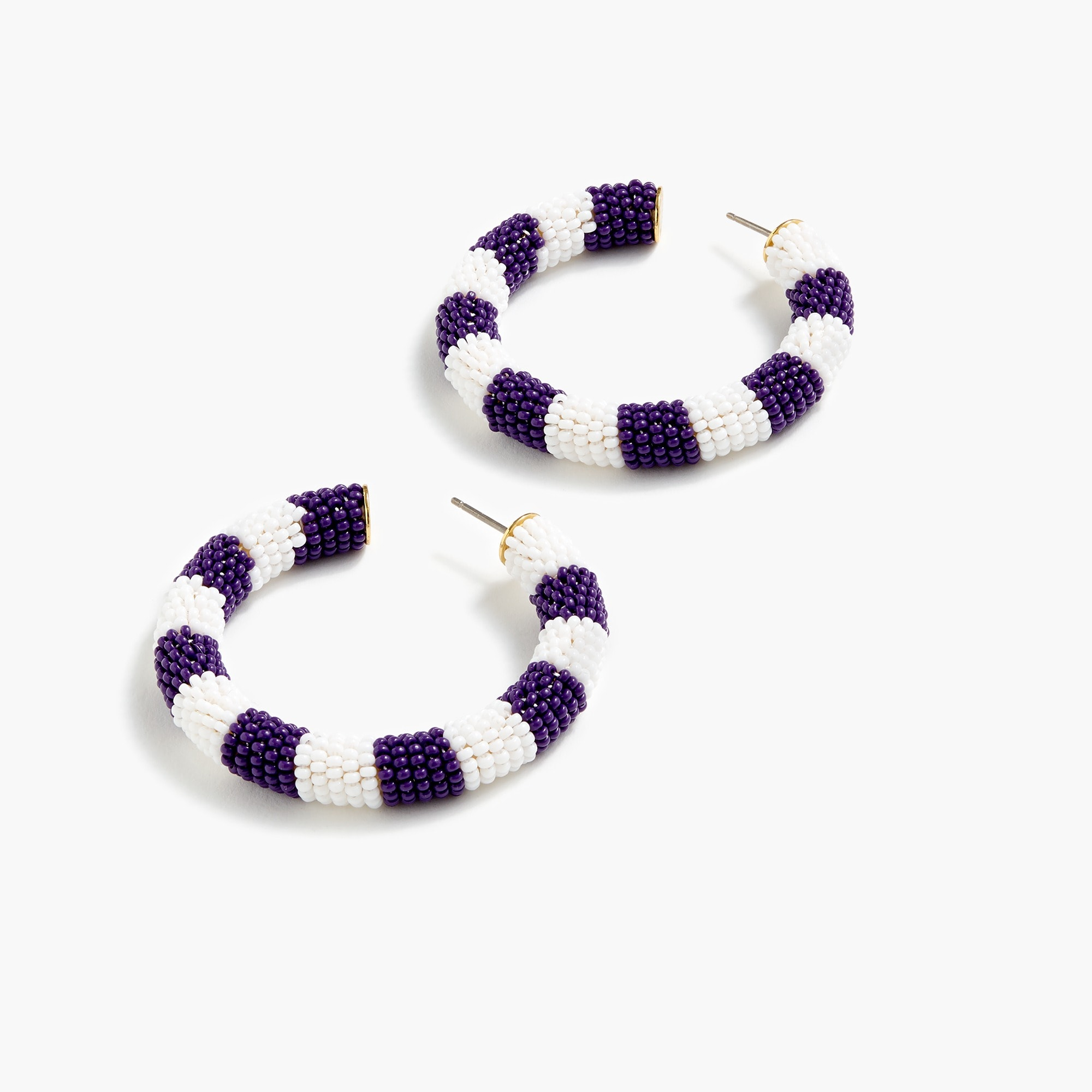 Image 2 for Alison Lou X J.Crew striped beaded hoops