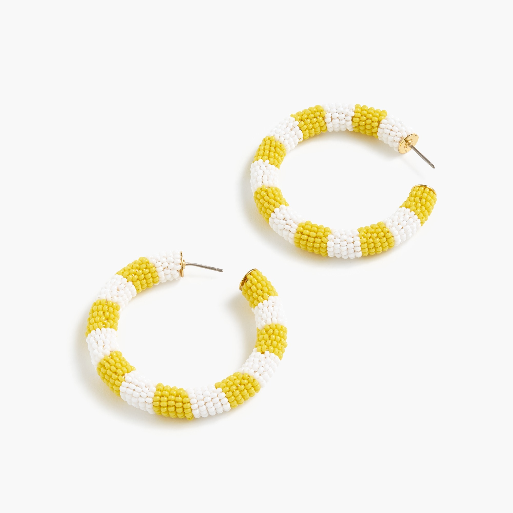 womens Alison Lou X J.Crew striped beaded hoops