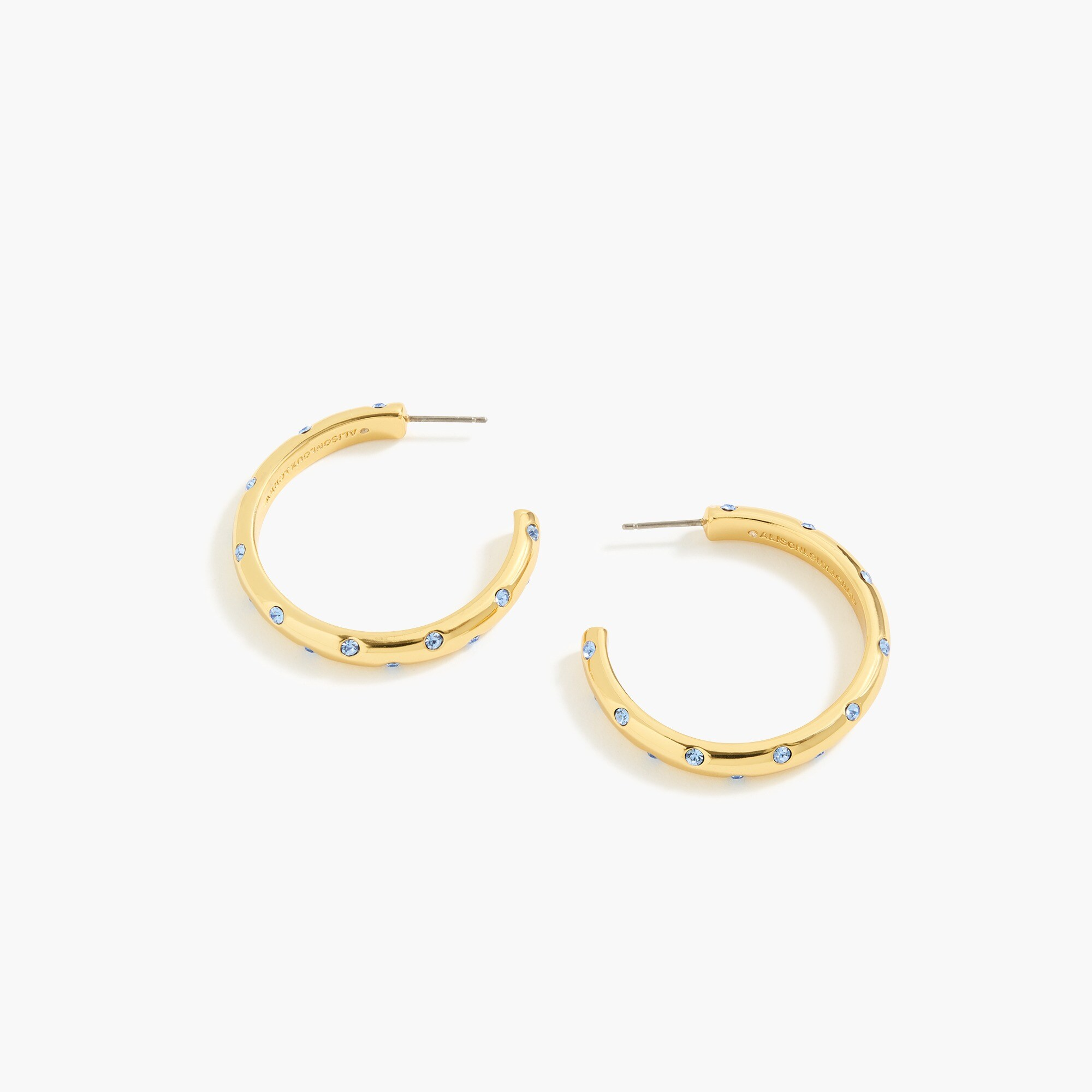 womens Alison Lou X J.Crew crystal-studded hoop earrings
