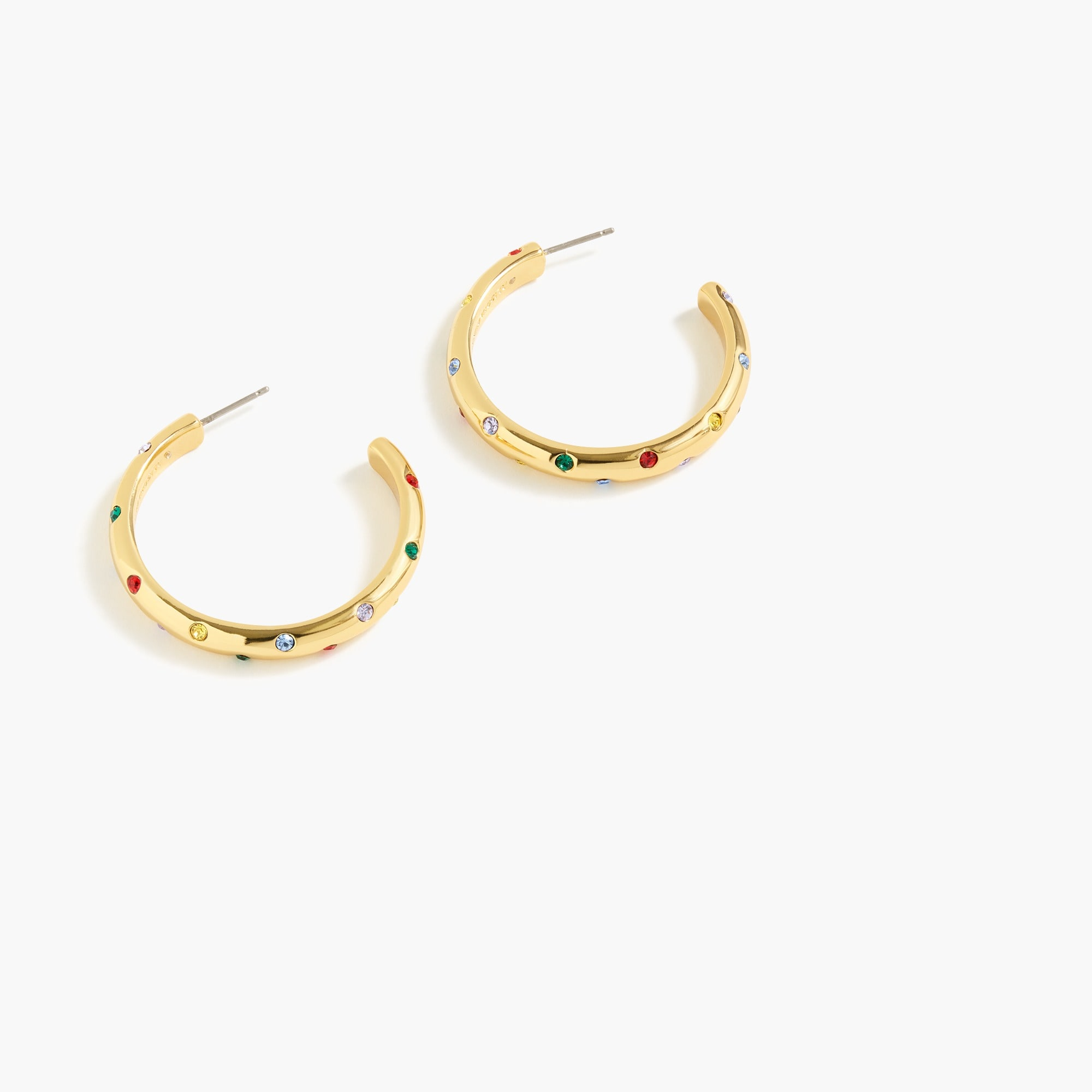 Alison Lou X J.Crew crystal-studded hoop earrings women new arrivals c