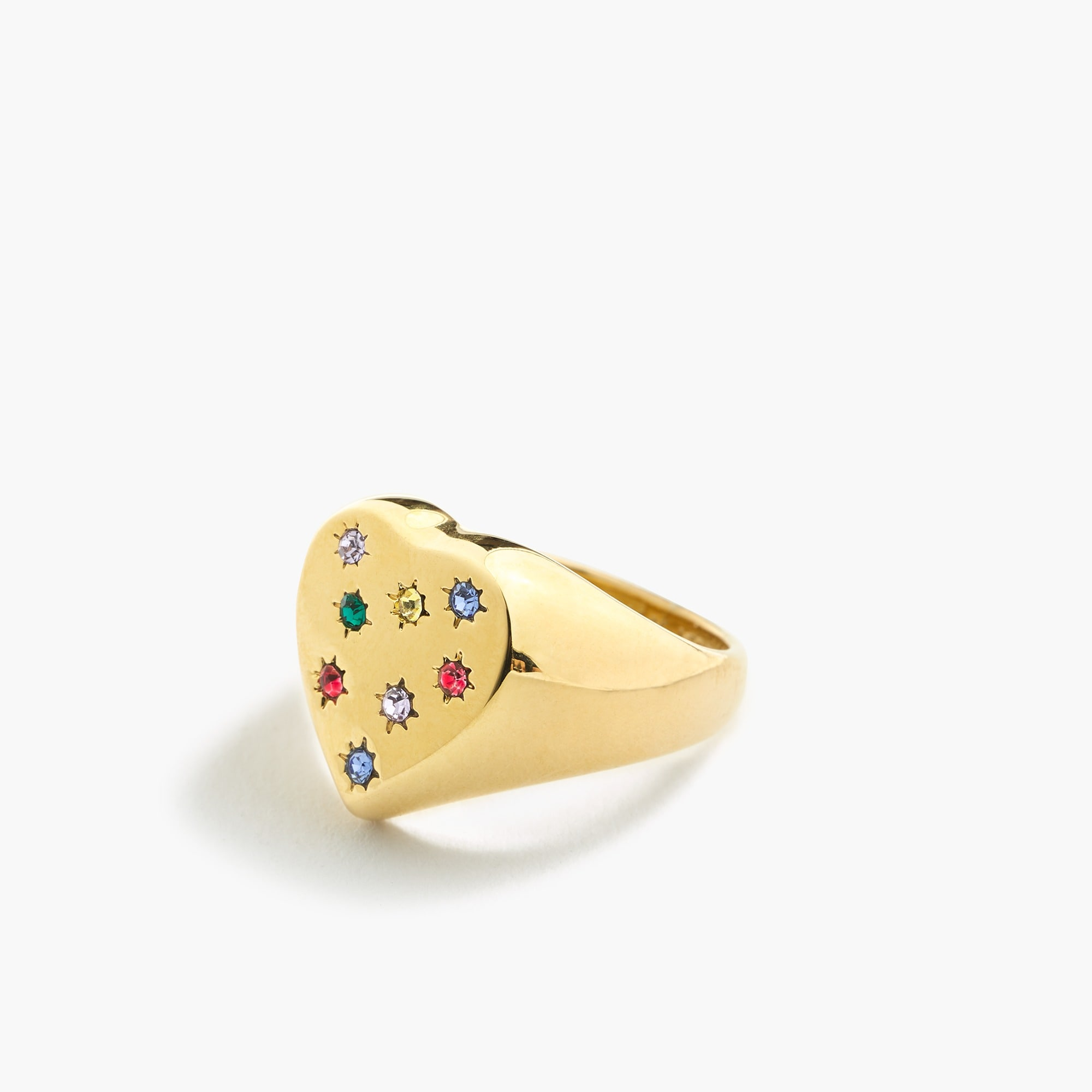 Alison Lou X J.Crew heart-shaped ring women new arrivals c