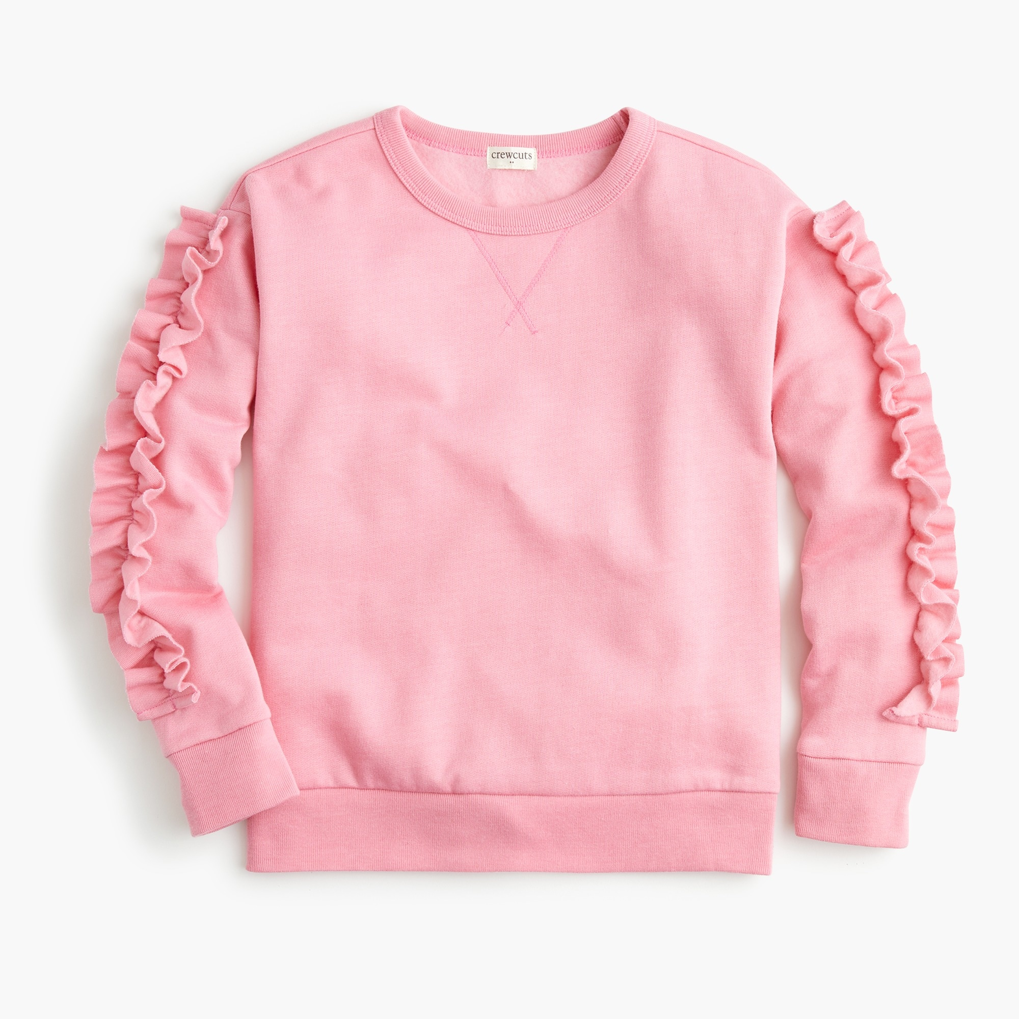 girls Girls' sweatshirt with ruffle-trimmed sleeves